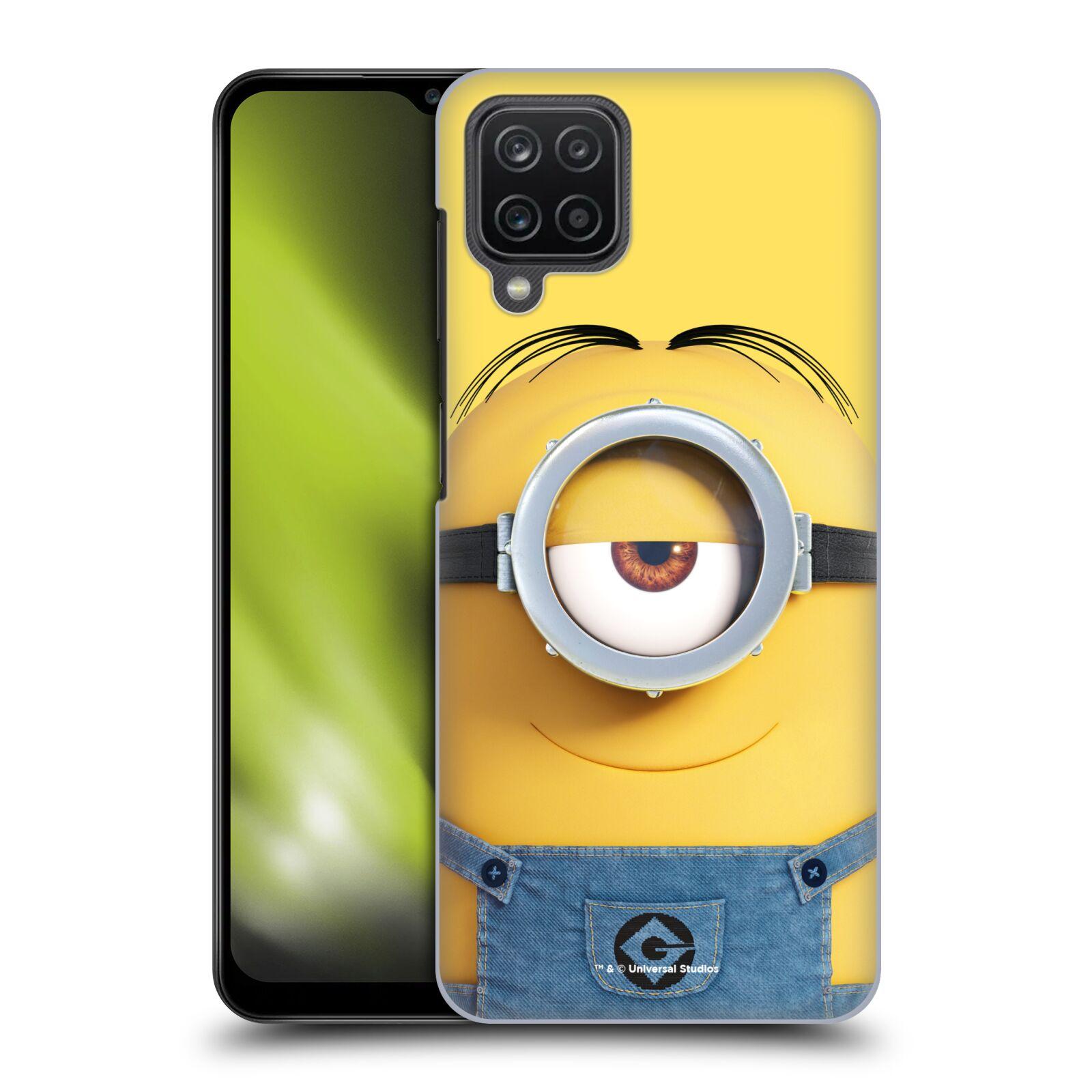 Plastové pouzdro na mobil Samsung Galaxy A12 - Head Case - Mimoň Stuart z filmu Já, padouch - Despicable Me