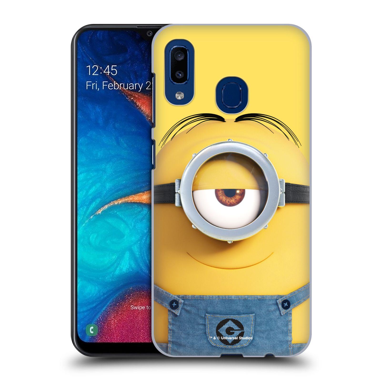 Plastové pouzdro na mobil Samsung Galaxy A20 - Head Case - Mimoň Stuart z filmu Já, padouch - Despicable Me