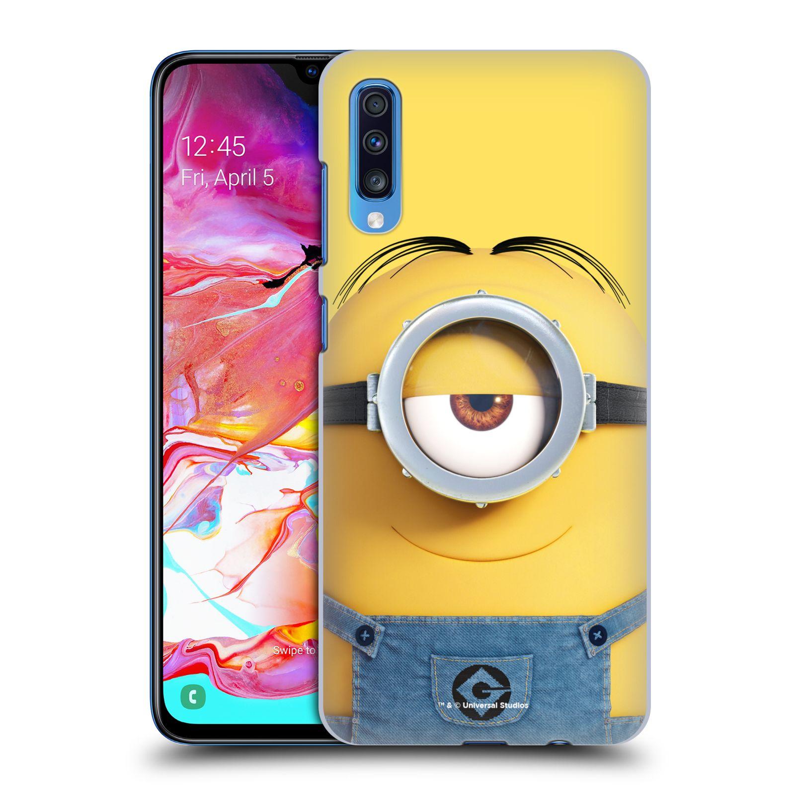 Plastové pouzdro na mobil Samsung Galaxy A70 - Head Case - Mimoň Stuart z filmu Já, padouch - Despicable Me