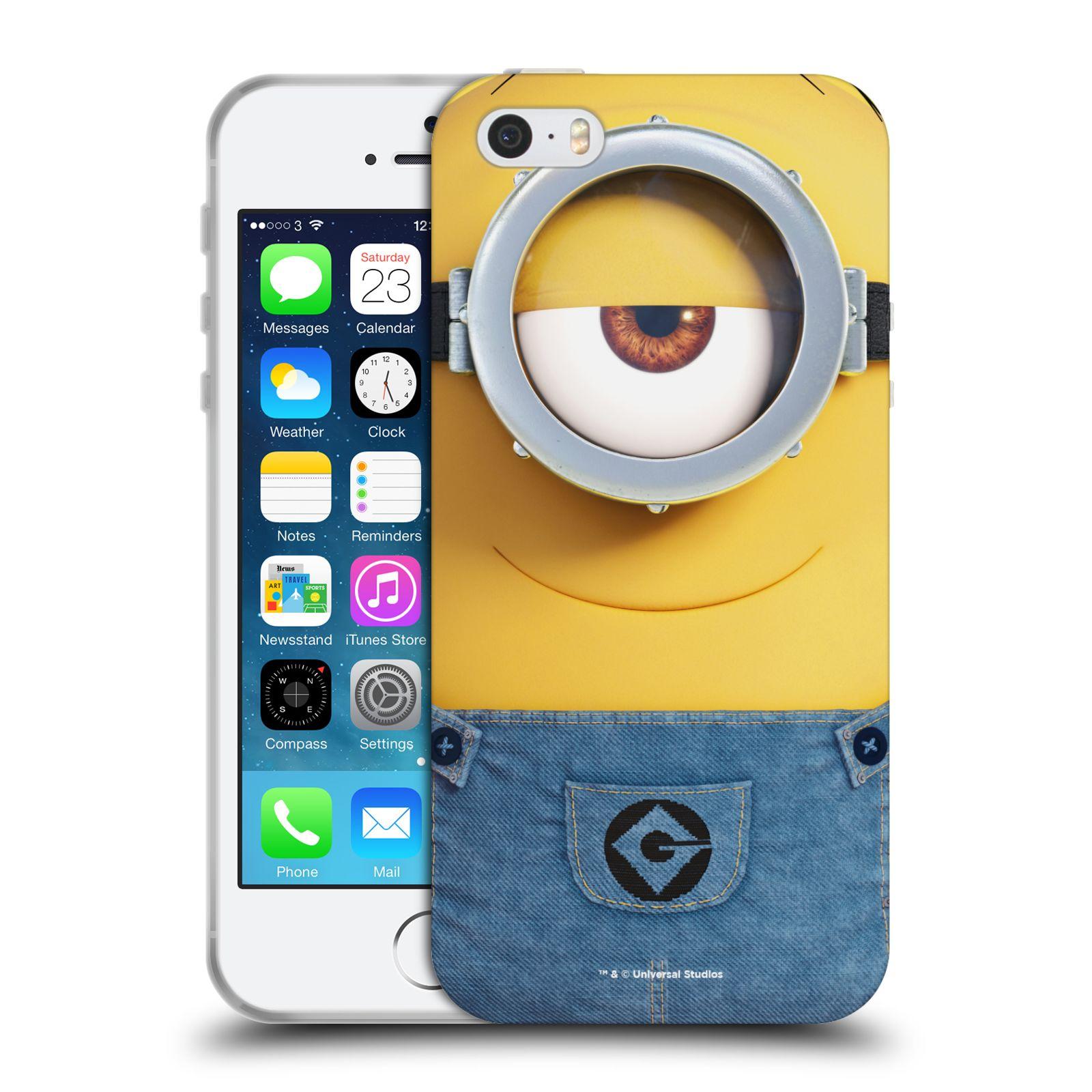 Silikonové pouzdro na mobil Apple iPhone 5, 5S, SE - Head Case - Mimoň Stuart z filmu Já, padouch - Despicable Me