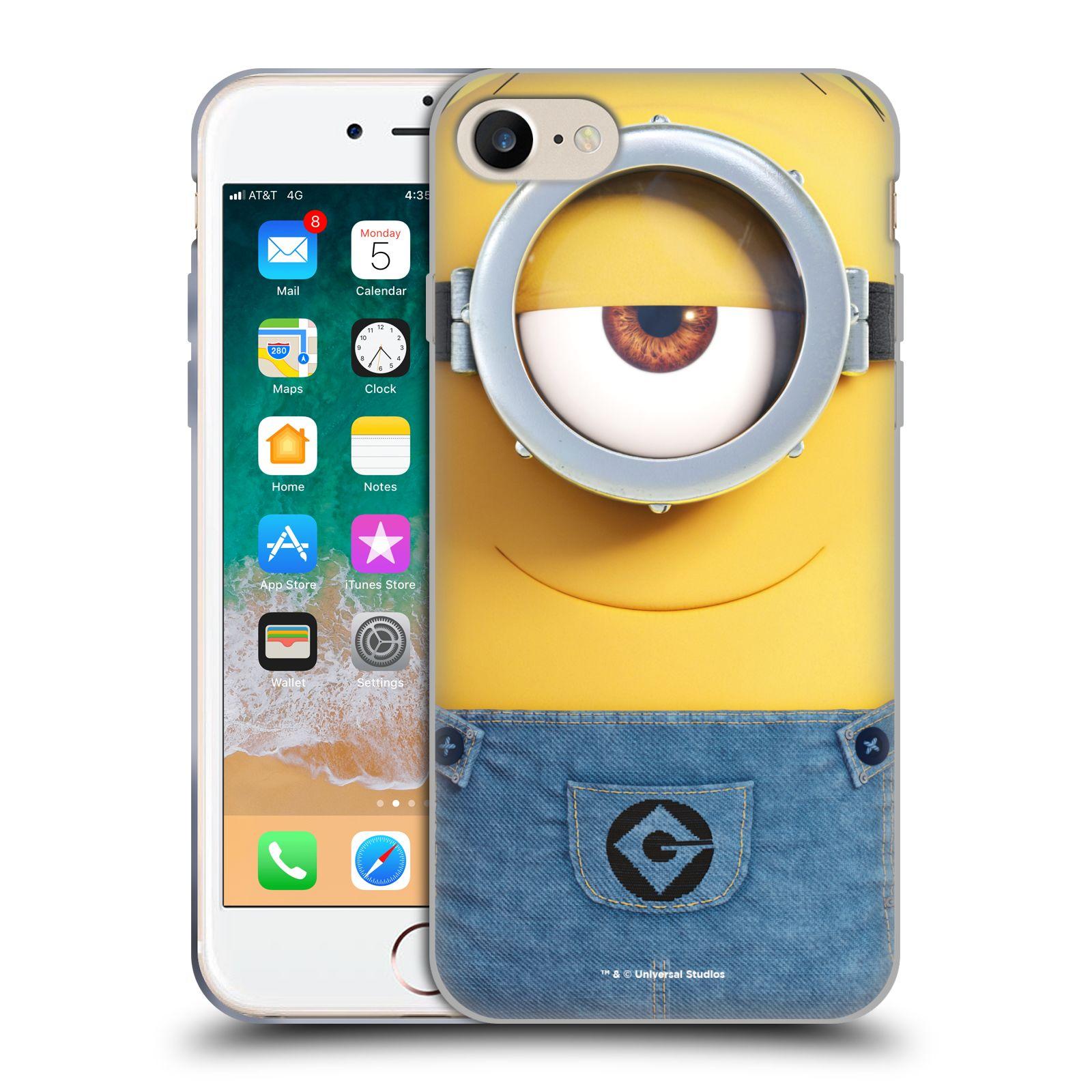 Silikonové pouzdro na mobil Apple iPhone SE (2020) - Head Case - Mimoň Stuart z filmu Já, padouch - Despicable Me
