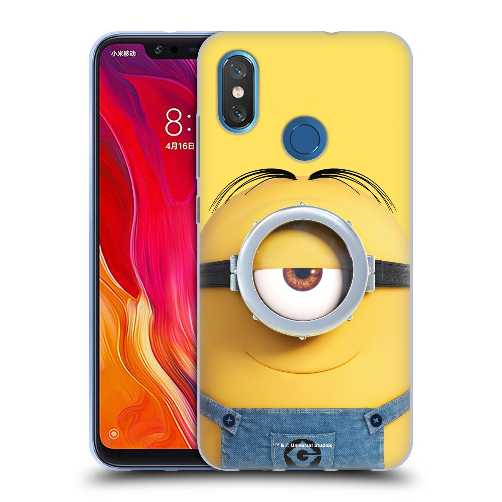 Silikonové pouzdro na mobil Xiaomi Mi8 - Head Case - Mimoň Stuart z filmu Já, padouch - Despicable Me