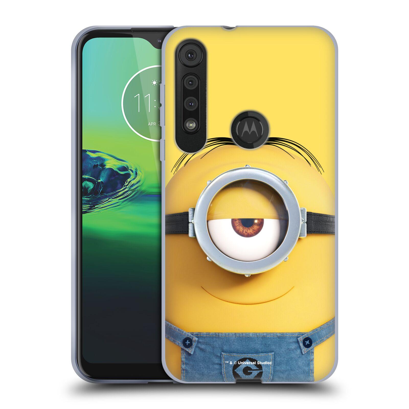 Silikonové pouzdro na mobil Motorola One Macro - Head Case - Mimoň Stuart z filmu Já, padouch - Despicable Me