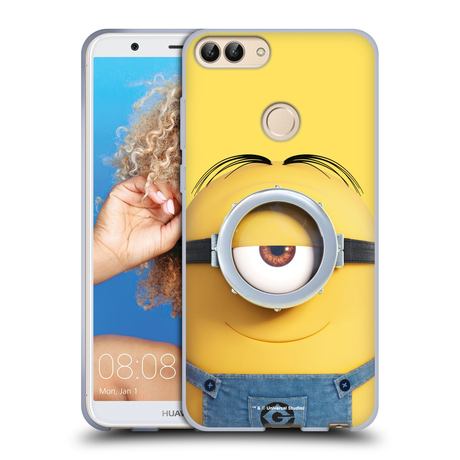 Silikonové pouzdro na mobil Huawei P Smart - Head Case - Mimoň Stuart z filmu Já, padouch - Despicable Me