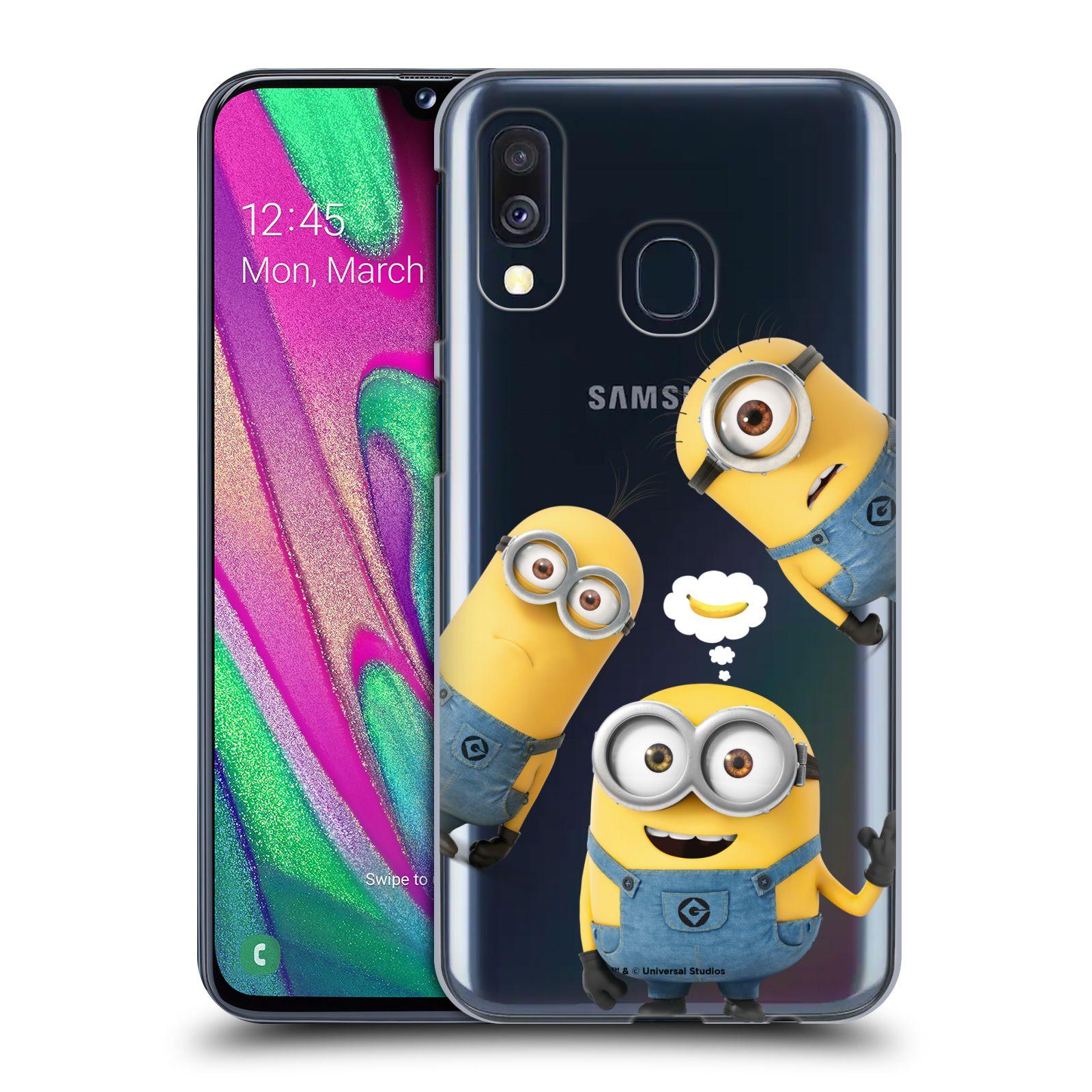Plastové pouzdro na mobil Samsung Galaxy A40 - Head Case - Mimoni Banana z filmu Já, padouch - Despicable Me