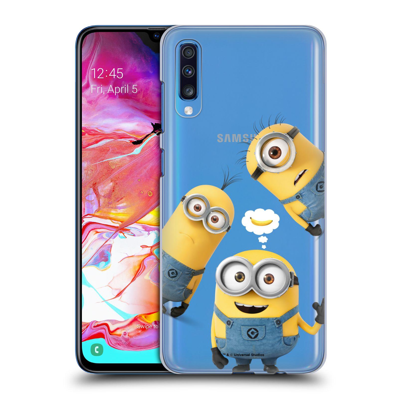 Plastové pouzdro na mobil Samsung Galaxy A70 - Head Case - Mimoni Banana z filmu Já, padouch - Despicable Me