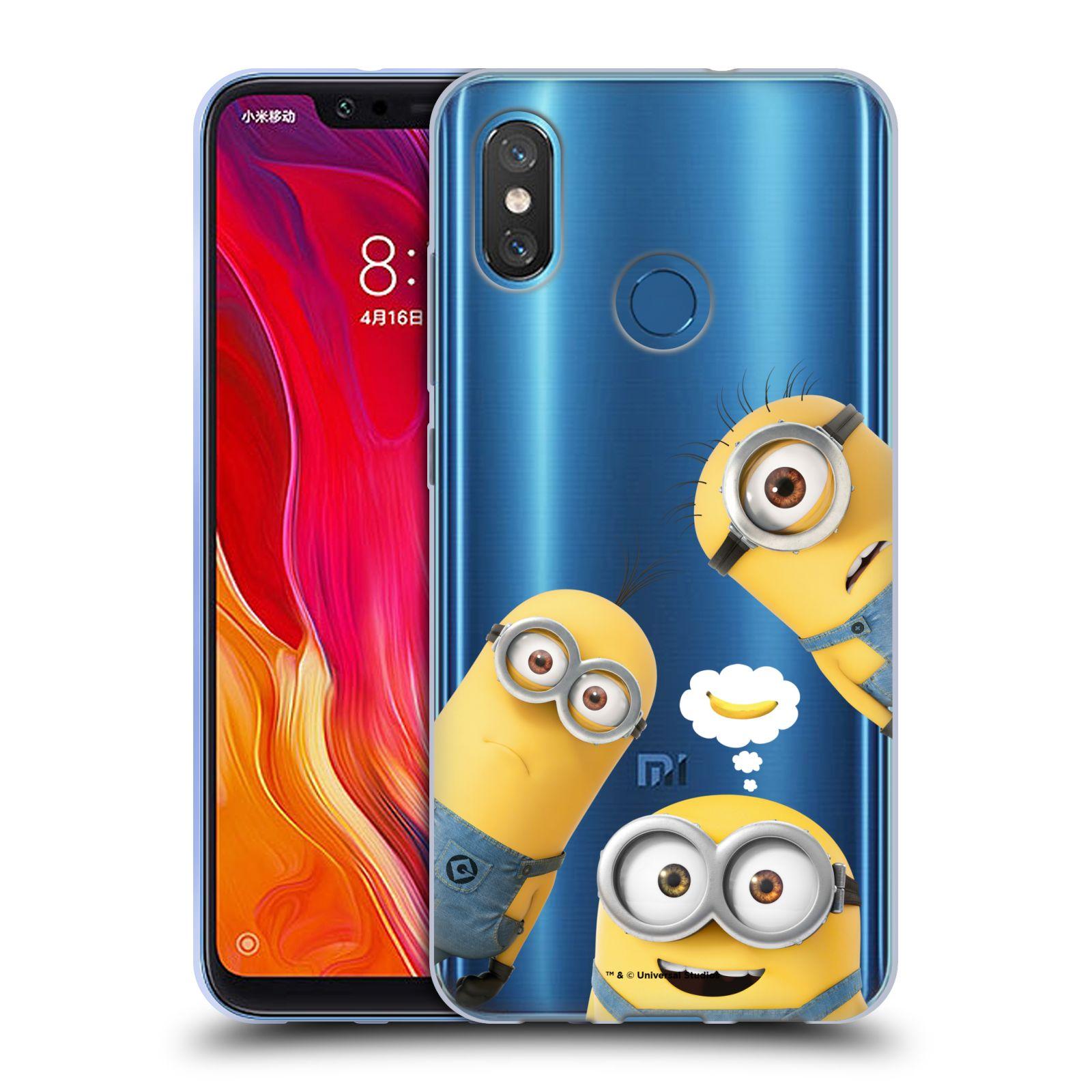 Silikonové pouzdro na mobil Xiaomi Mi8 - Head Case - Mimoni Banana z filmu Já, padouch - Despicable Me