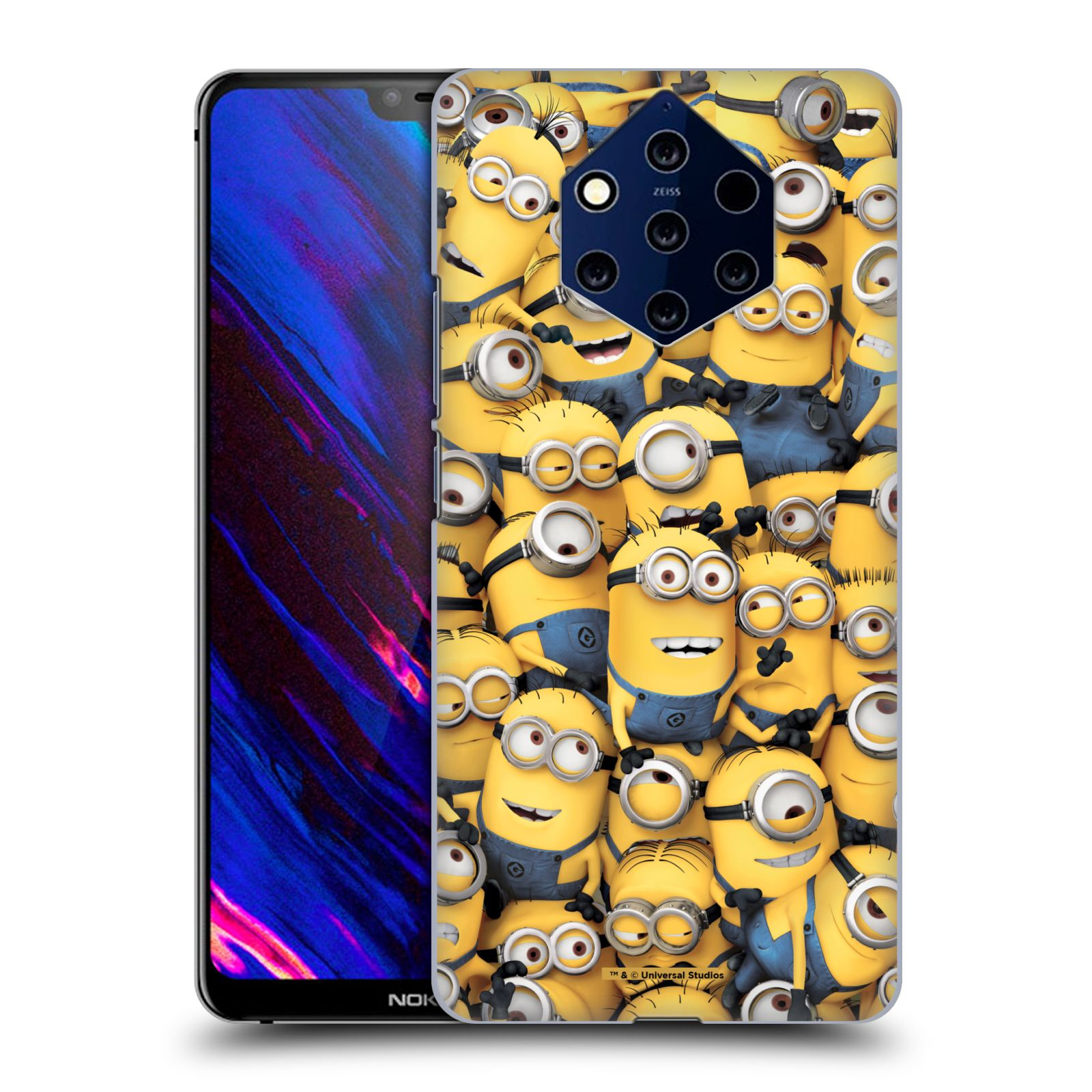 Plastové pouzdro na mobil Nokia 9 PureView - Head Case - Mimoni všude z filmu Já, padouch - Despicable Me