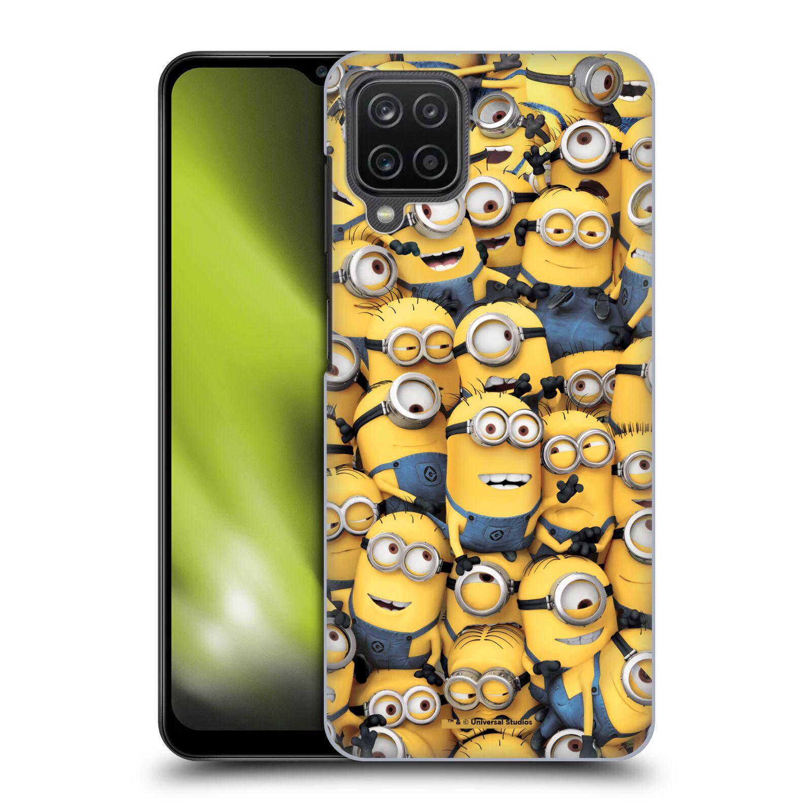Plastové pouzdro na mobil Samsung Galaxy A12 - Head Case - Mimoni všude z filmu Já, padouch - Despicable Me
