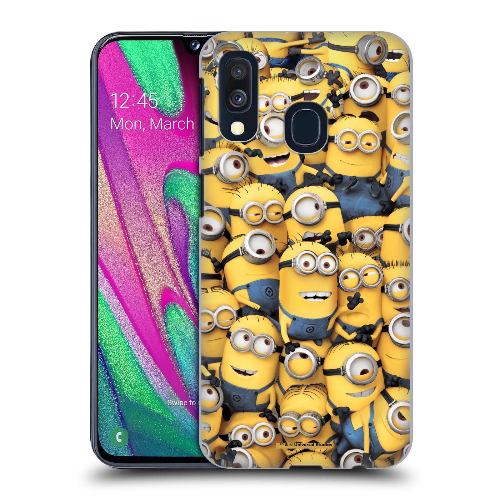 Plastové pouzdro na mobil Samsung Galaxy A40 - Head Case - Mimoni všude z filmu Já, padouch - Despicable Me