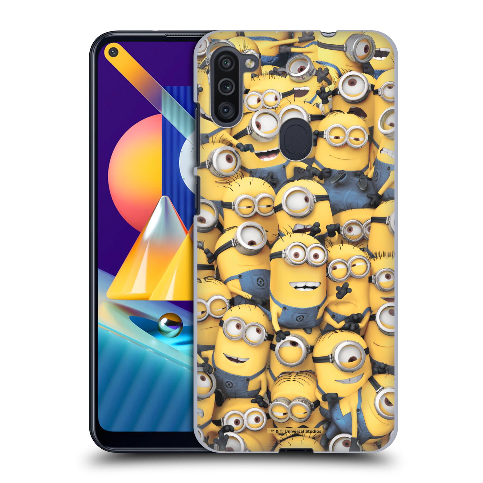 Plastové pouzdro na mobil Samsung Galaxy M11 - Head Case - Mimoni všude z filmu Já, padouch - Despicable Me