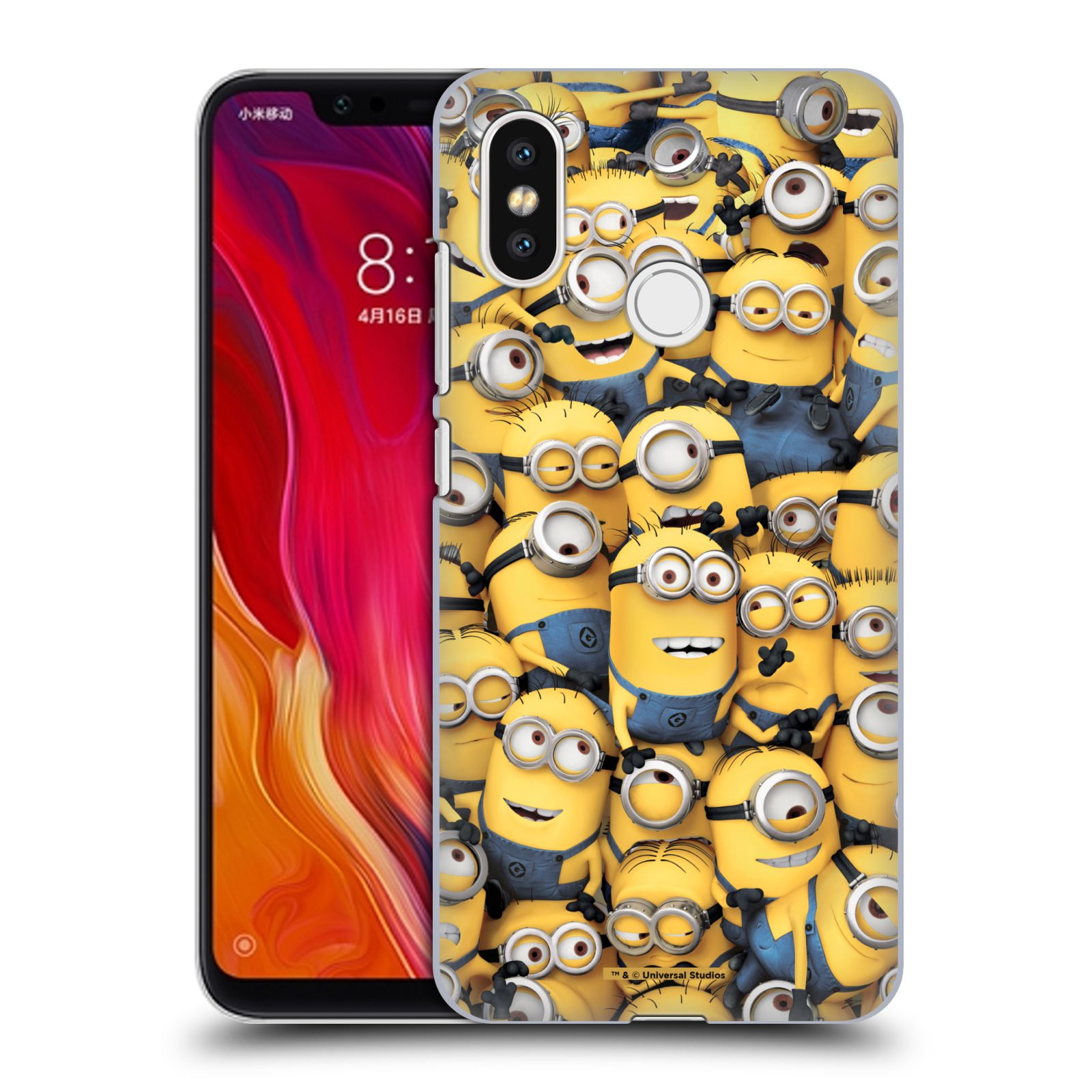 Plastové pouzdro na mobil Xiaomi Mi8 - Head Case - Mimoni všude z filmu Já, padouch - Despicable Me