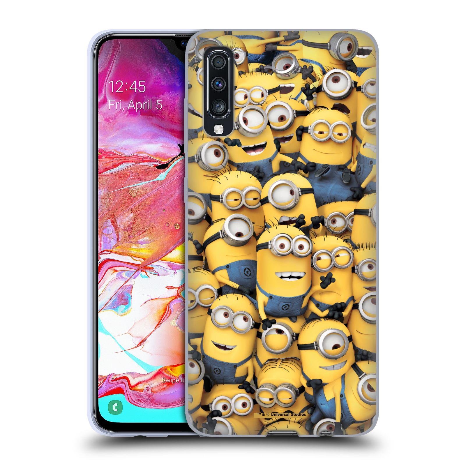 Silikonové pouzdro na mobil Samsung Galaxy A70 - Head Case - Mimoni všude z filmu Já, padouch - Despicable Me