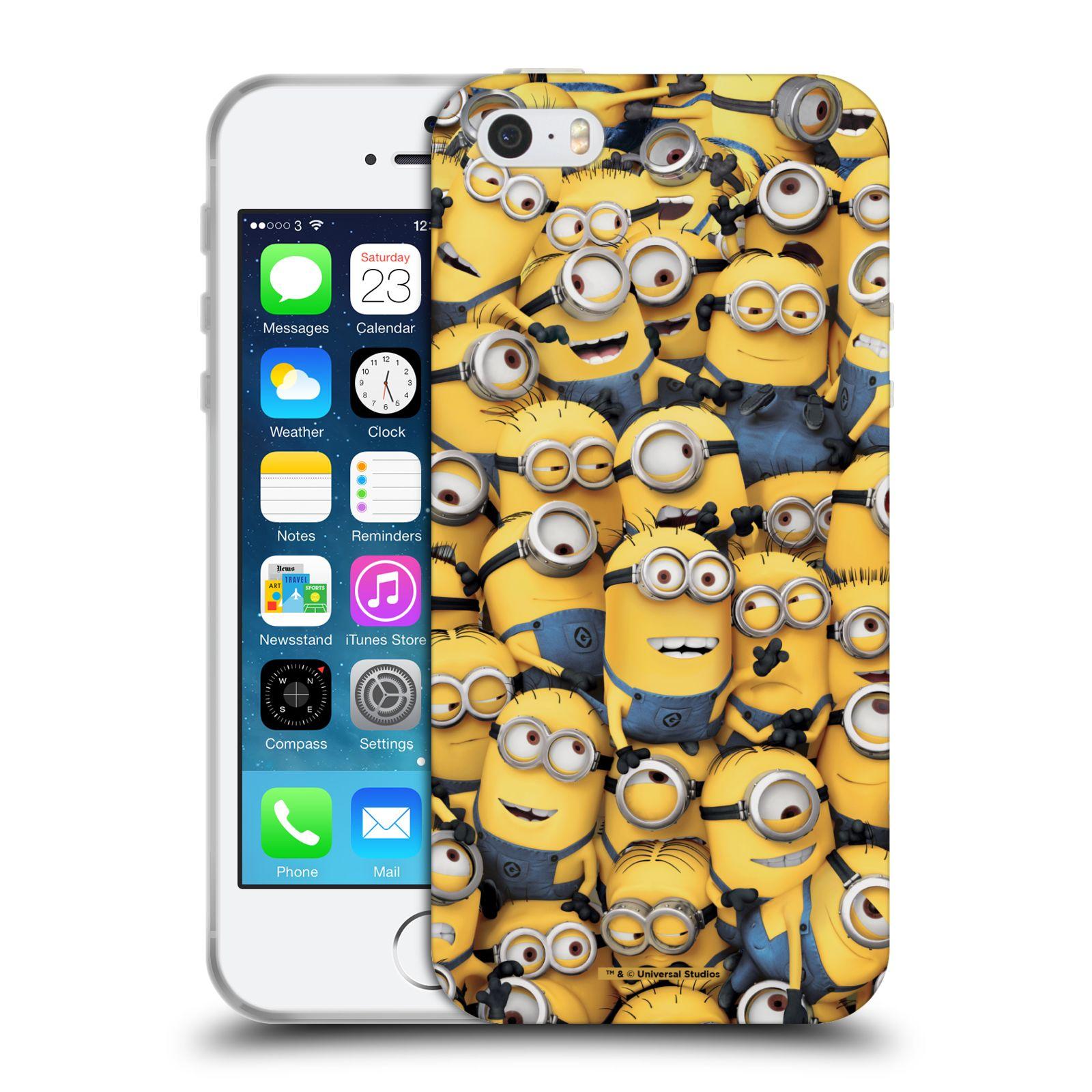 Silikonové pouzdro na mobil Apple iPhone 5, 5S, SE - Head Case - Mimoni všude z filmu Já, padouch - Despicable Me