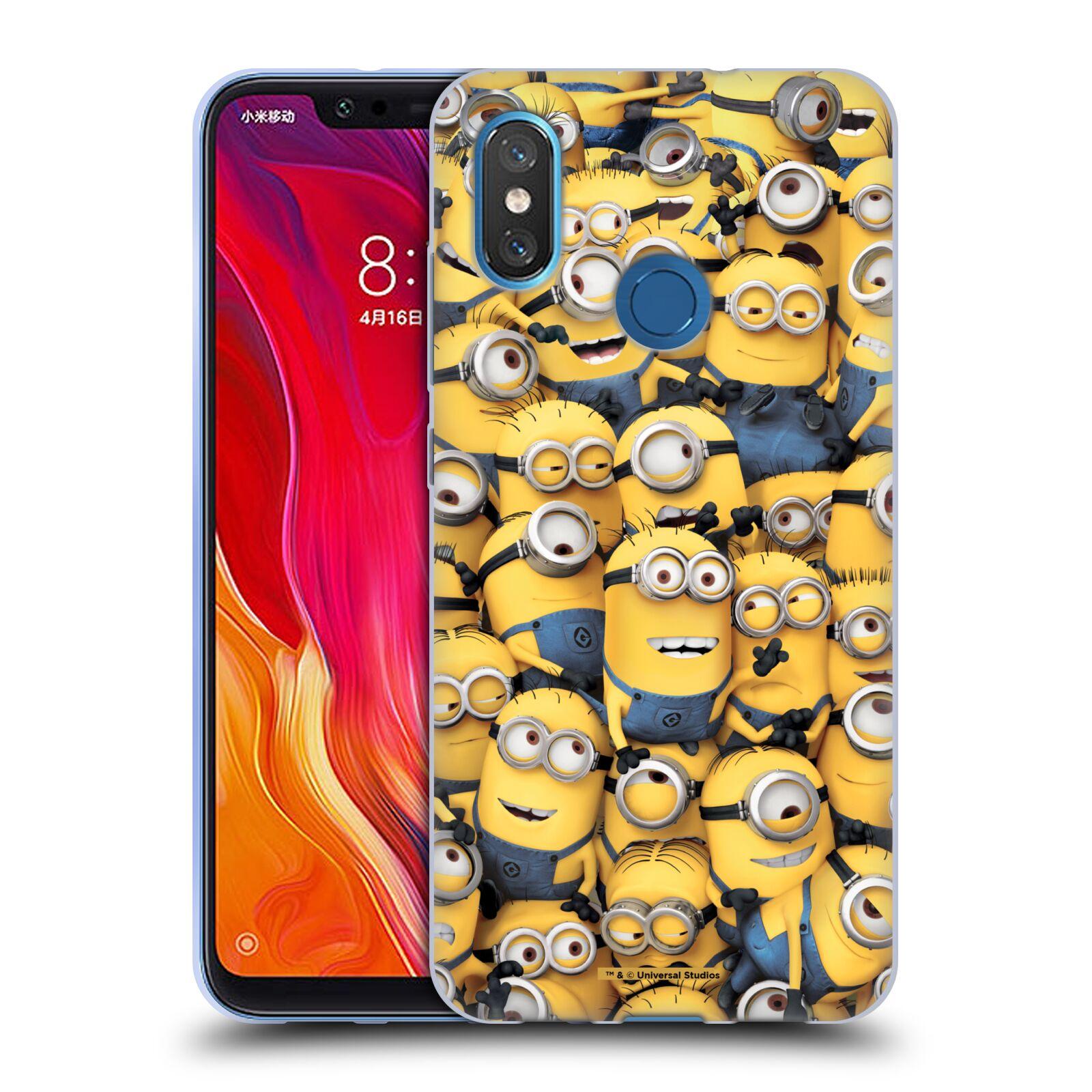 Silikonové pouzdro na mobil Xiaomi Mi8 - Head Case - Mimoni všude z filmu Já, padouch - Despicable Me