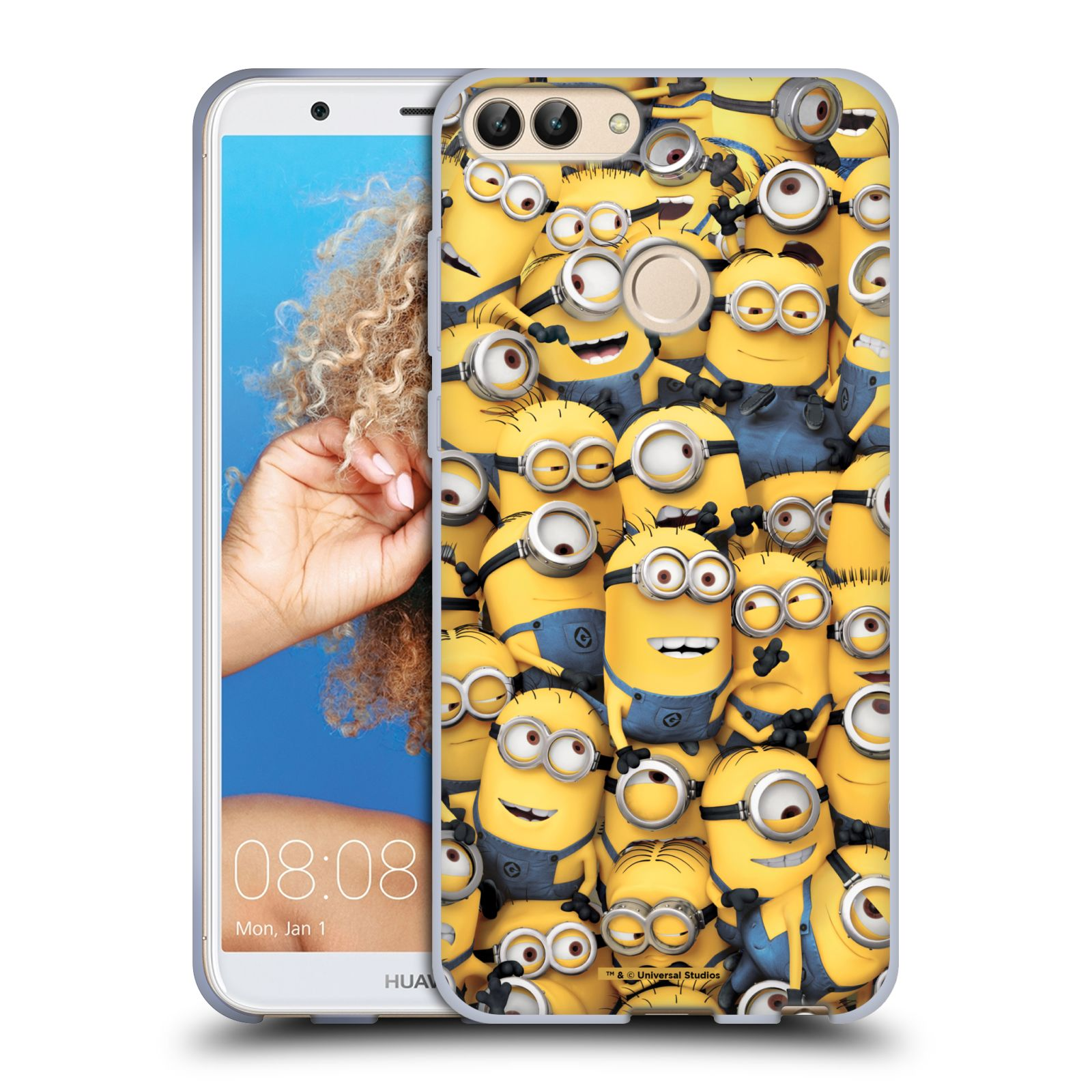 Silikonové pouzdro na mobil Huawei P Smart - Head Case - Mimoni všude z filmu Já, padouch - Despicable Me