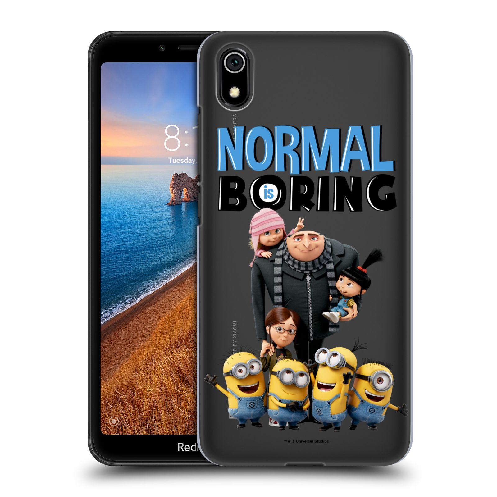 Plastové pouzdro na mobil Xiaomi Redmi 7A - Head Case - Normal is boring z filmu Já, padouch - Despicable Me