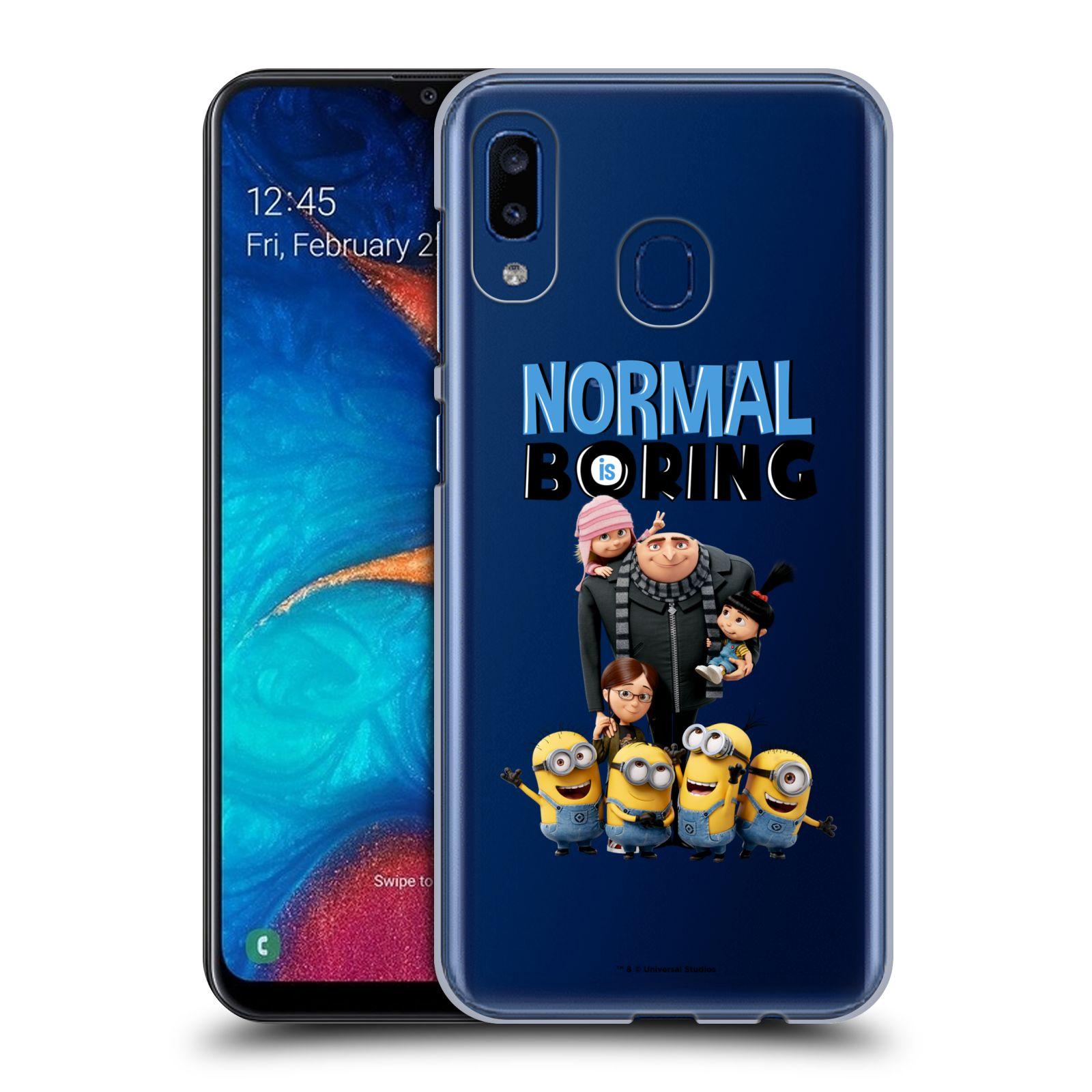 Plastové pouzdro na mobil Samsung Galaxy A20 - Head Case - Normal is boring z filmu Já, padouch - Despicable Me
