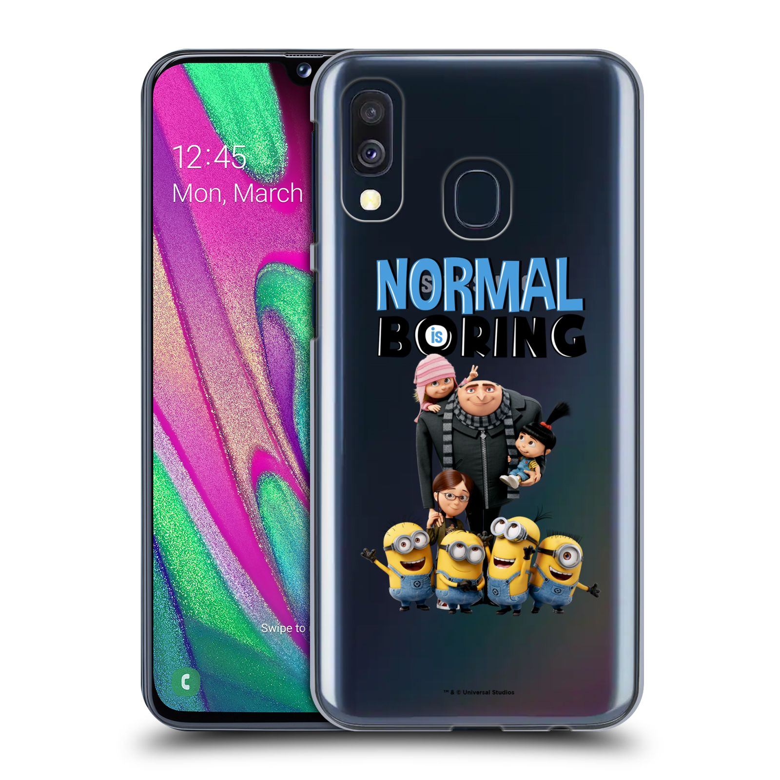 Plastové pouzdro na mobil Samsung Galaxy A40 - Head Case - Normal is boring z filmu Já, padouch - Despicable Me
