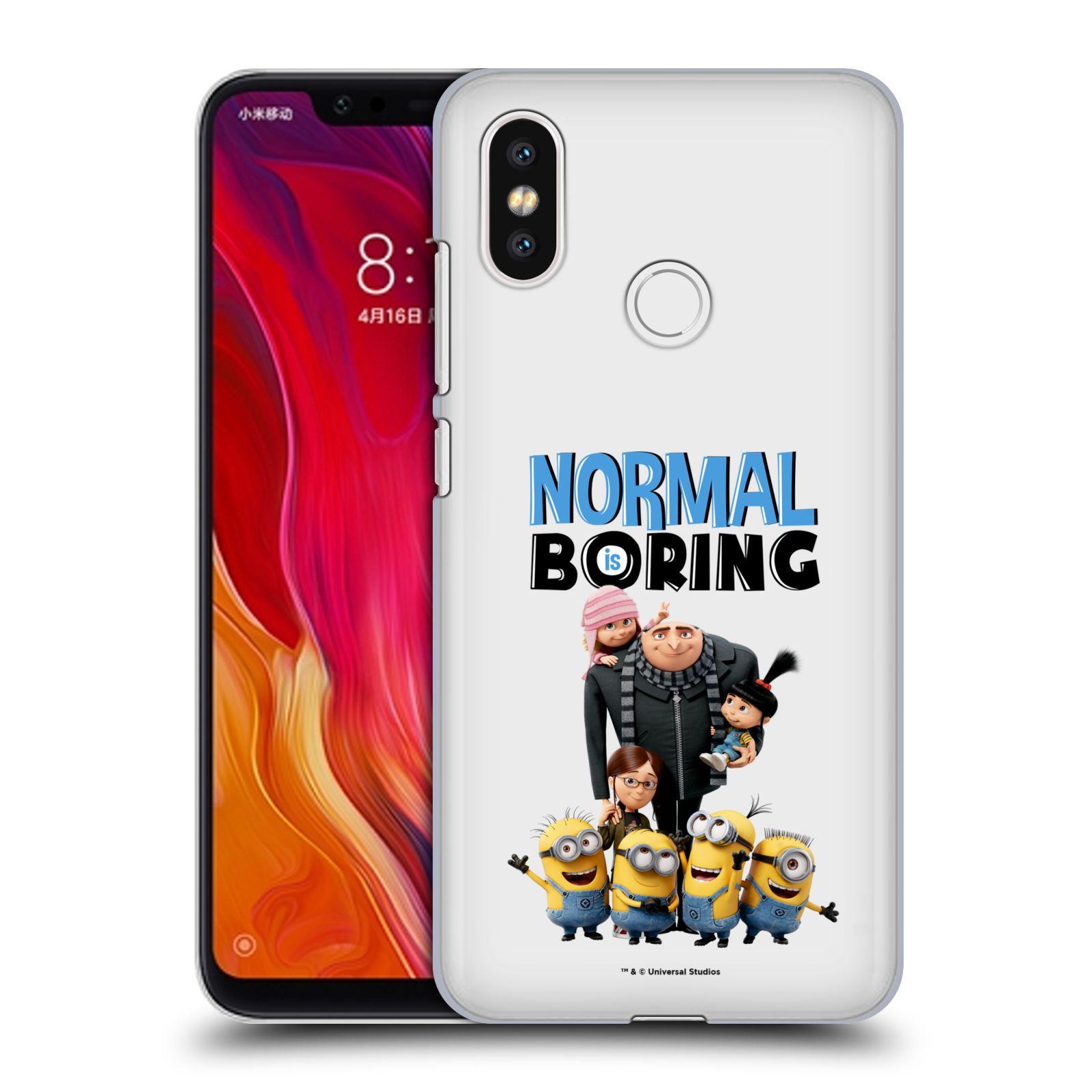 Plastové pouzdro na mobil Xiaomi Mi8 - Head Case - Normal is boring z filmu Já, padouch - Despicable Me