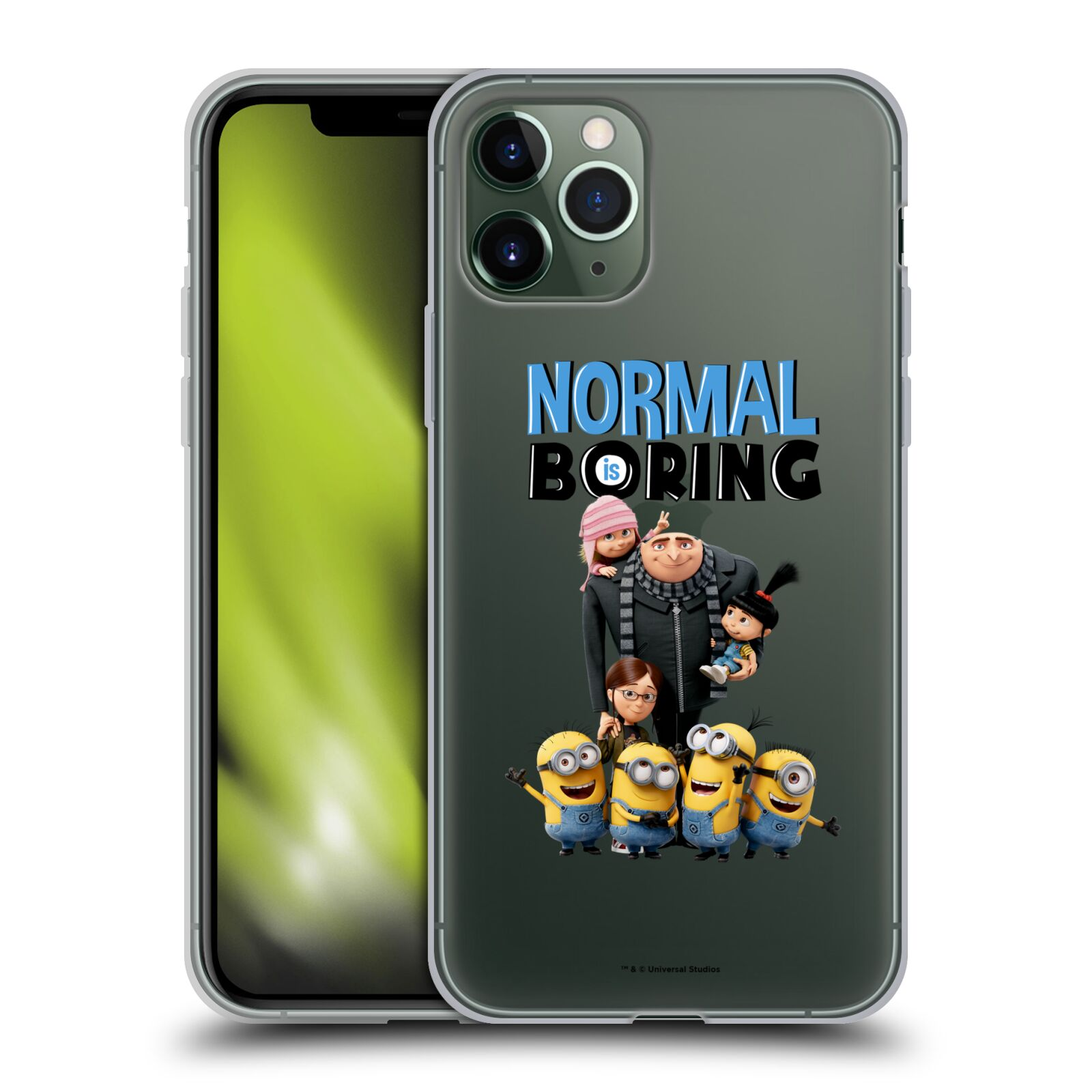 usb adaptér do auta | Silikonové pouzdro na mobil Apple iPhone 11 Pro - Head Case - Normal is boring z filmu Já, padouch - Despicable Me