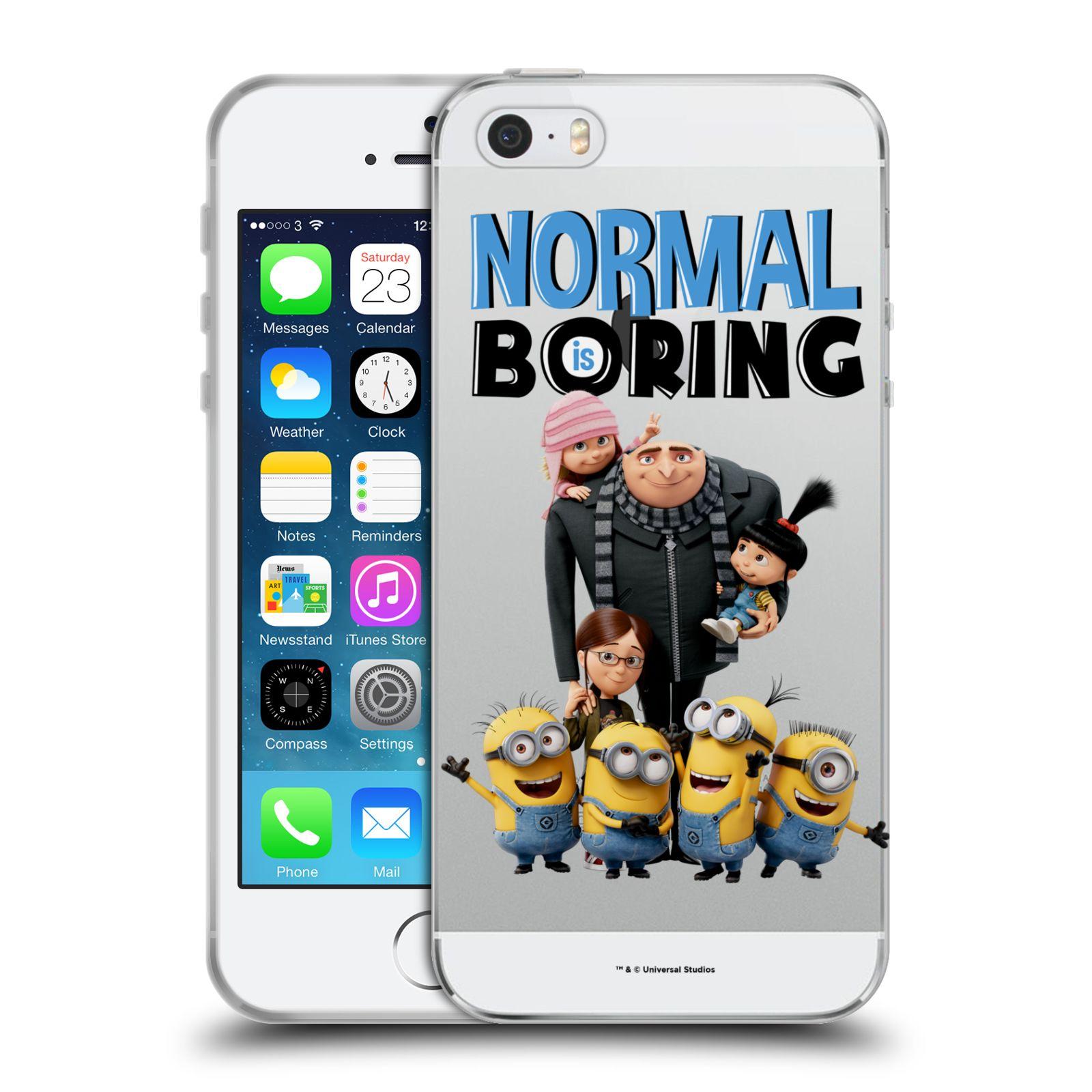 Silikonové pouzdro na mobil Apple iPhone 5, 5S, SE - Head Case - Normal is boring z filmu Já, padouch - Despicable Me