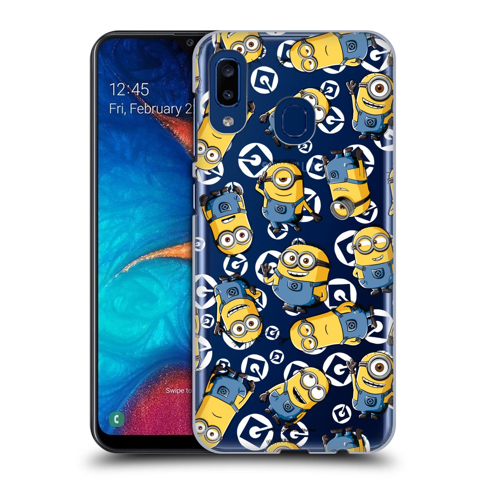 Plastové pouzdro na mobil Samsung Galaxy A20 - Head Case - Minion pattern z filmu Já, padouch - Despicable Me