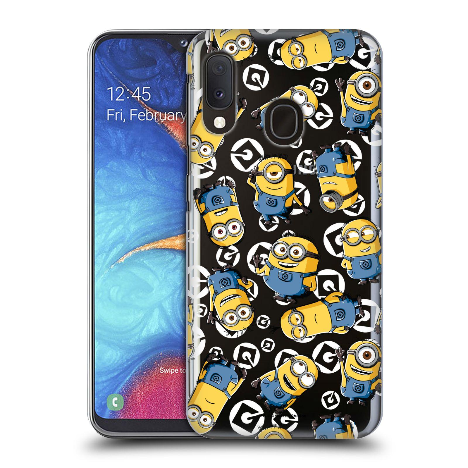 Plastové pouzdro na mobil Samsung Galaxy A20e - Head Case - Minion pattern z filmu Já, padouch - Despicable Me