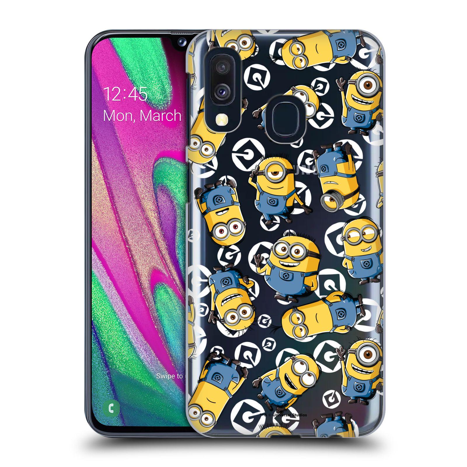 Plastové pouzdro na mobil Samsung Galaxy A40 - Head Case - Minion pattern z filmu Já, padouch - Despicable Me