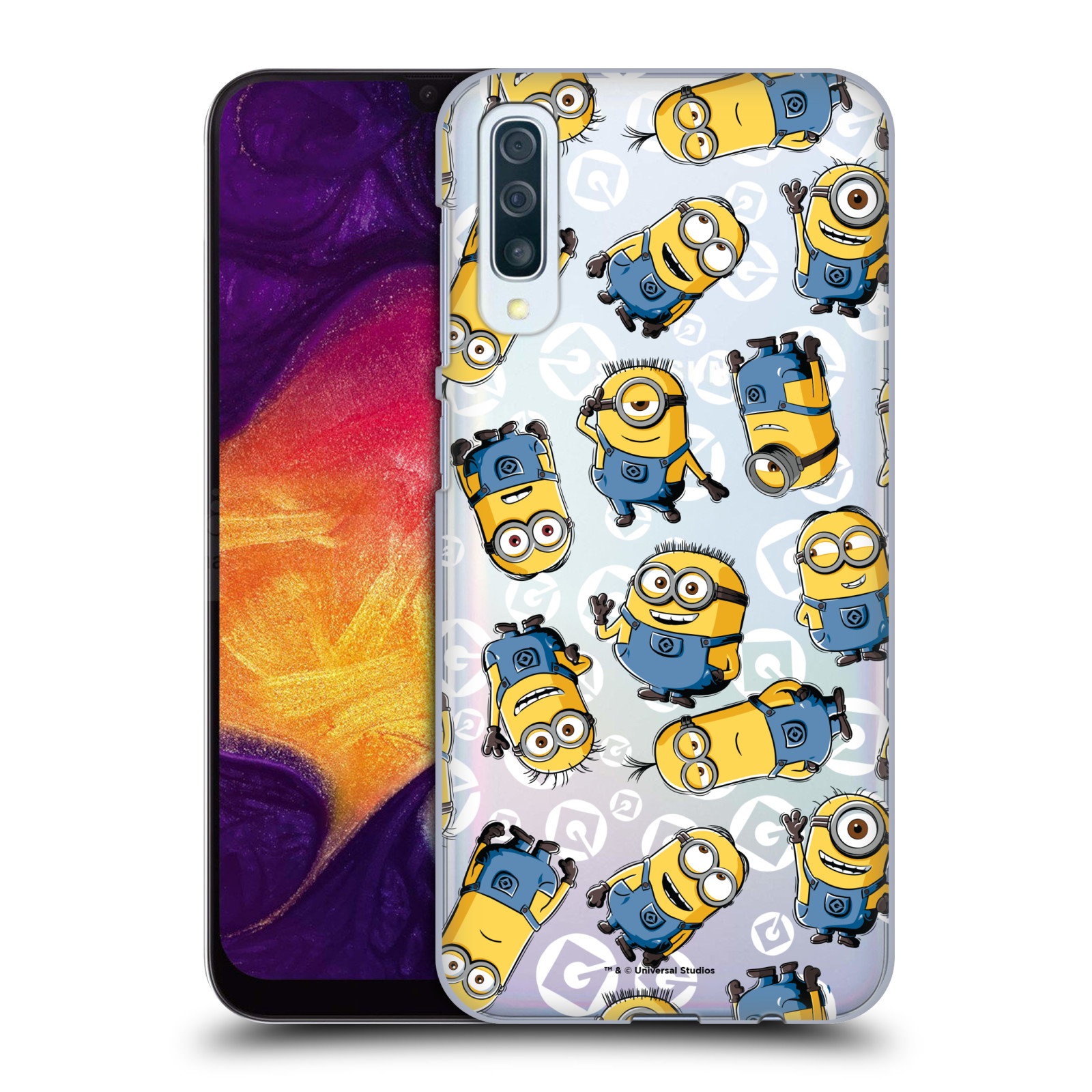Plastové pouzdro na mobil Samsung Galaxy A50 - Head Case - Minion pattern z filmu Já, padouch - Despicable Me