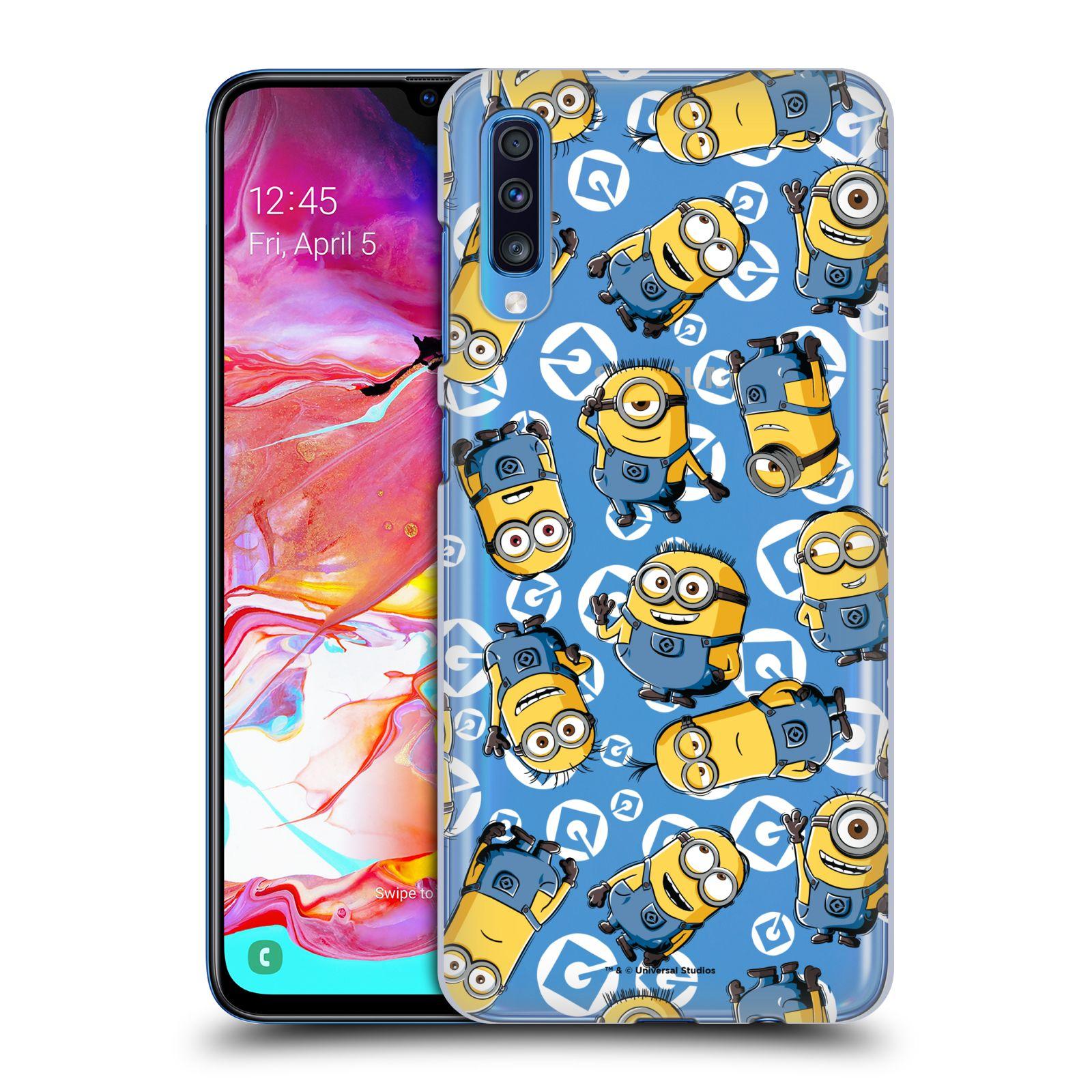 Plastové pouzdro na mobil Samsung Galaxy A70 - Head Case - Minion pattern z filmu Já, padouch - Despicable Me