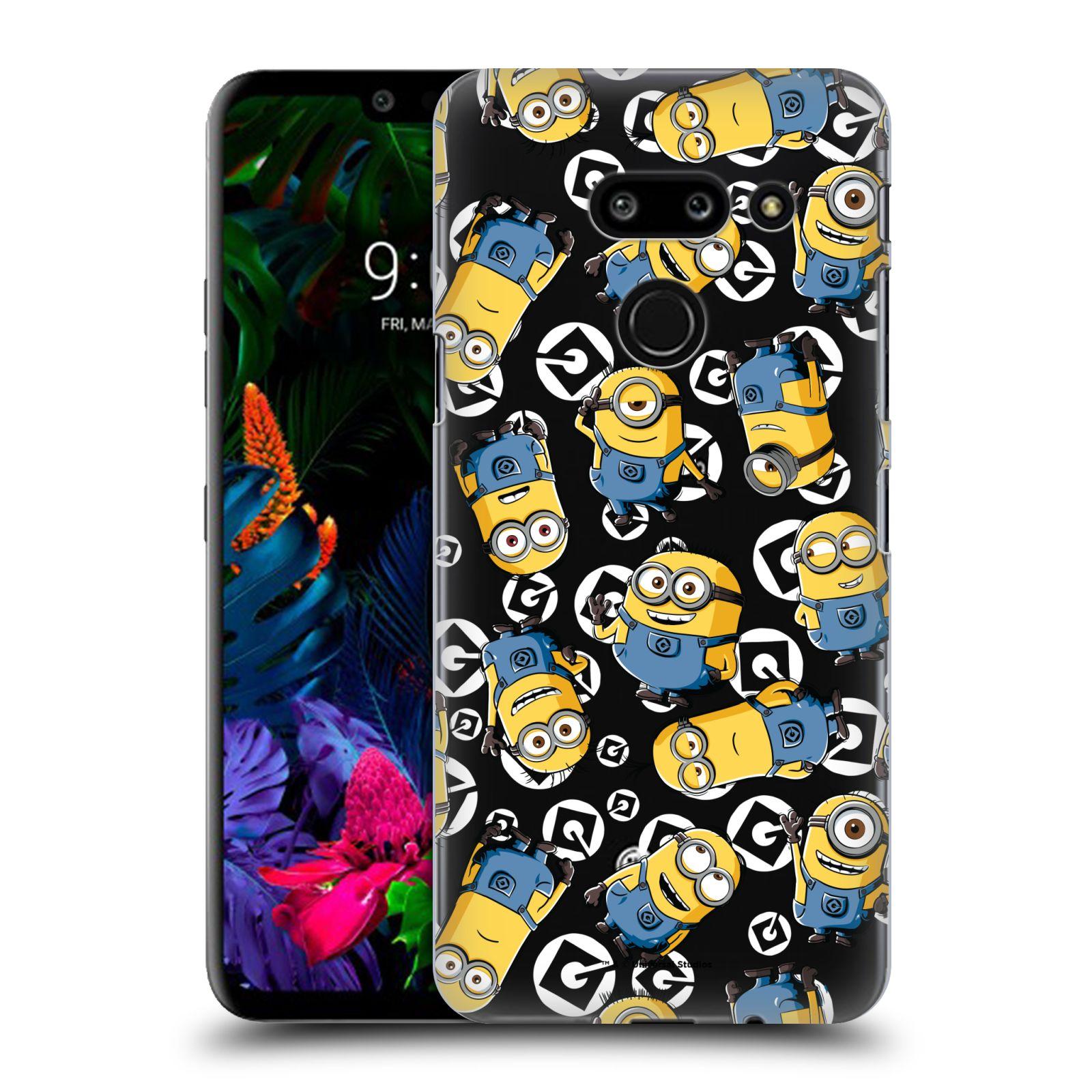 Plastové pouzdro na mobil LG G8 ThinQ - Head Case - Minion pattern z filmu Já, padouch - Despicable Me