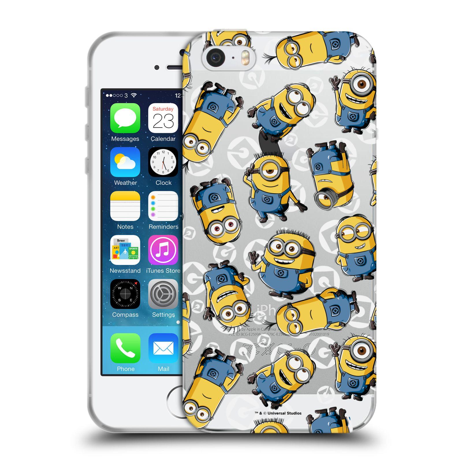 Silikonové pouzdro na mobil Apple iPhone 5, 5S, SE - Head Case - Minion pattern z filmu Já, padouch - Despicable Me