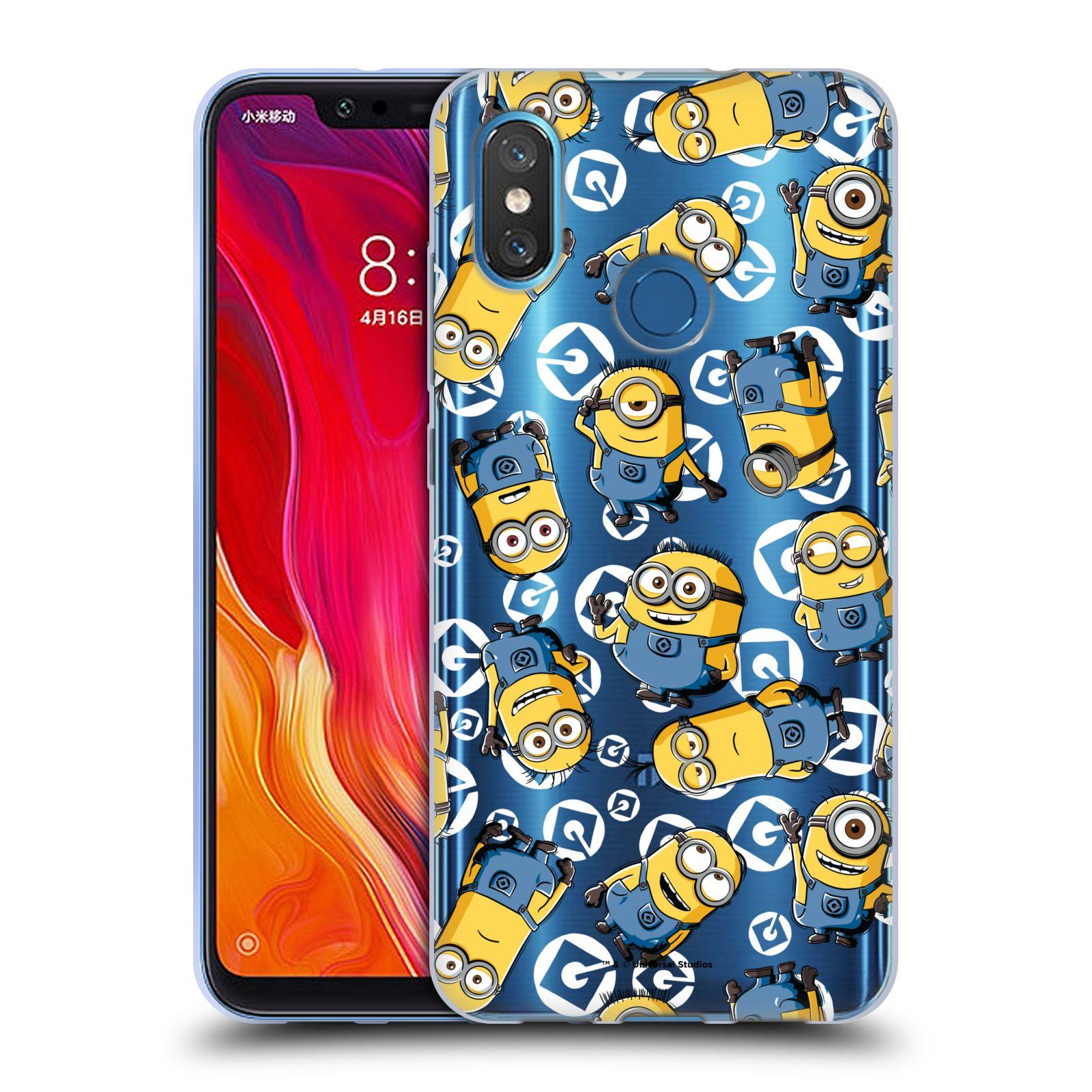 Silikonové pouzdro na mobil Xiaomi Mi8 - Head Case - Minion pattern z filmu Já, padouch - Despicable Me