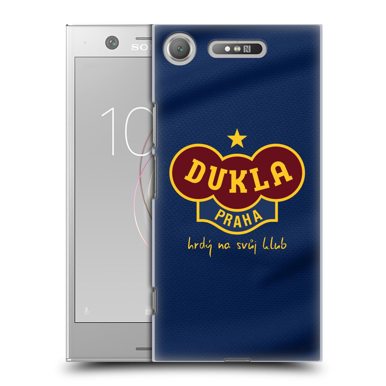 Plastové pouzdro na mobil Sony Xperia XZ1 - FK Dukla Praha - Modrý dres