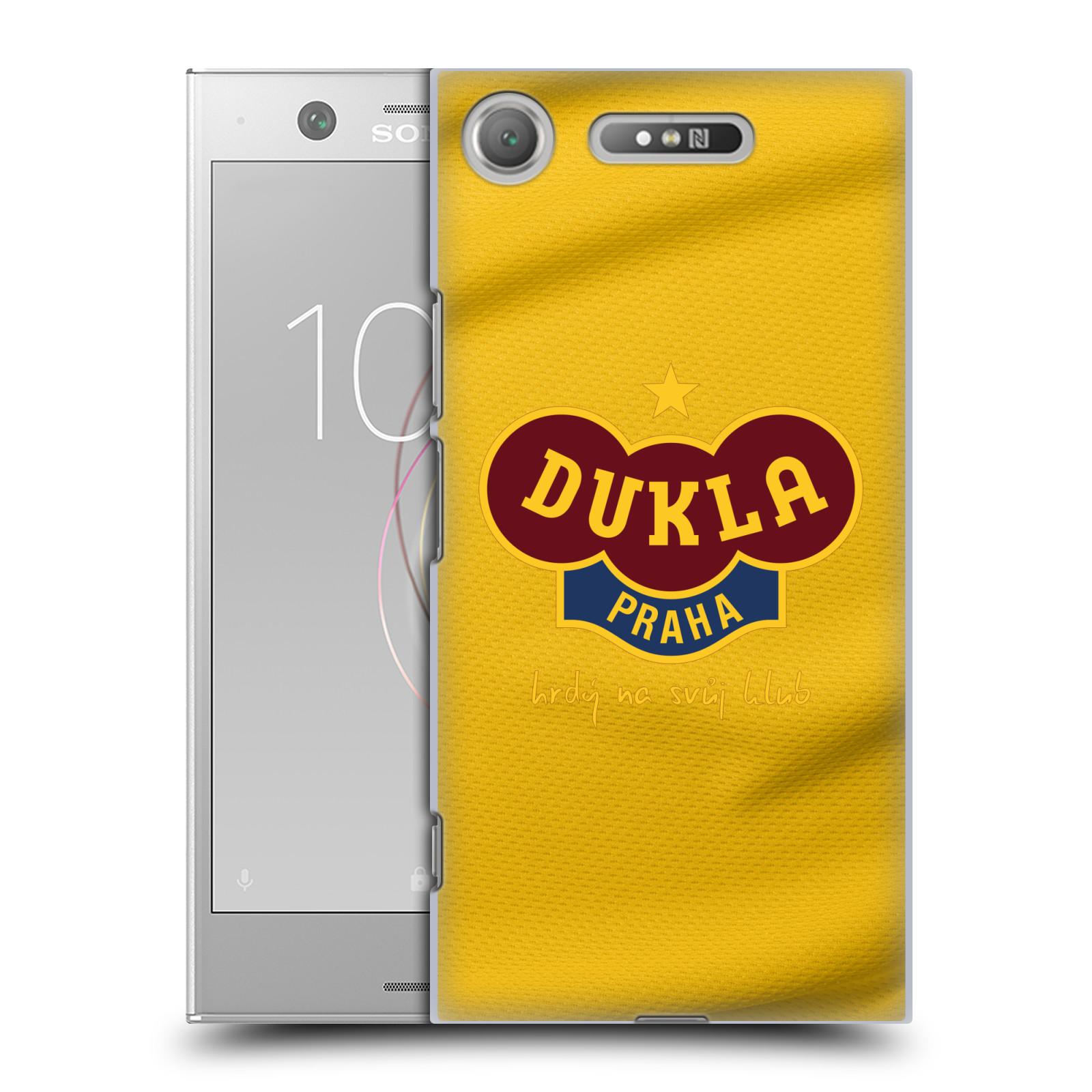 Plastové pouzdro na mobil Sony Xperia XZ1 - FK Dukla Praha - Žlutý dres