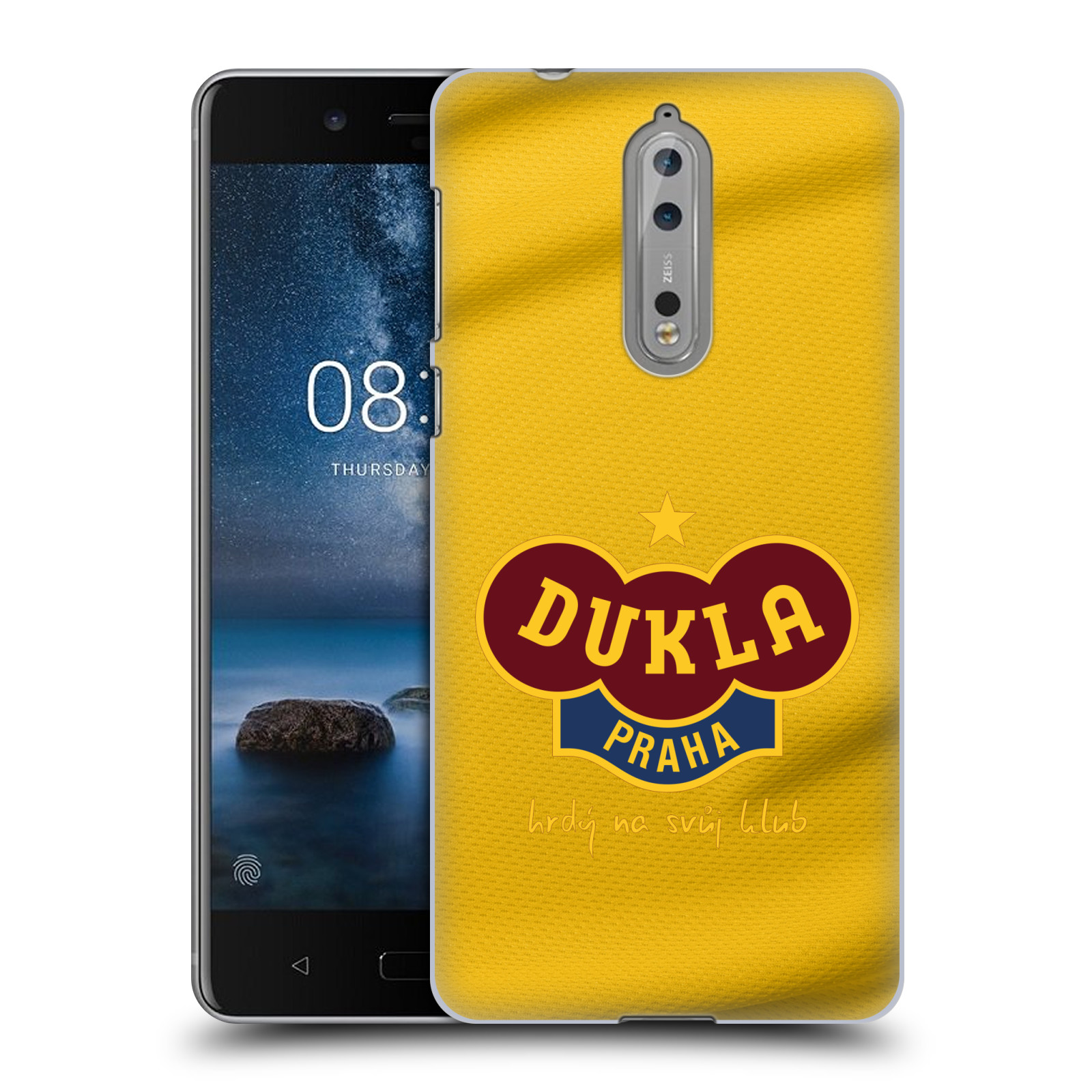 Plastové pouzdro na mobil Nokia 8 - FK Dukla Praha - Žlutý dres (Plastové pouzdro na mobil Nokia 8 - FK Dukla Praha - Žlutý dres)
