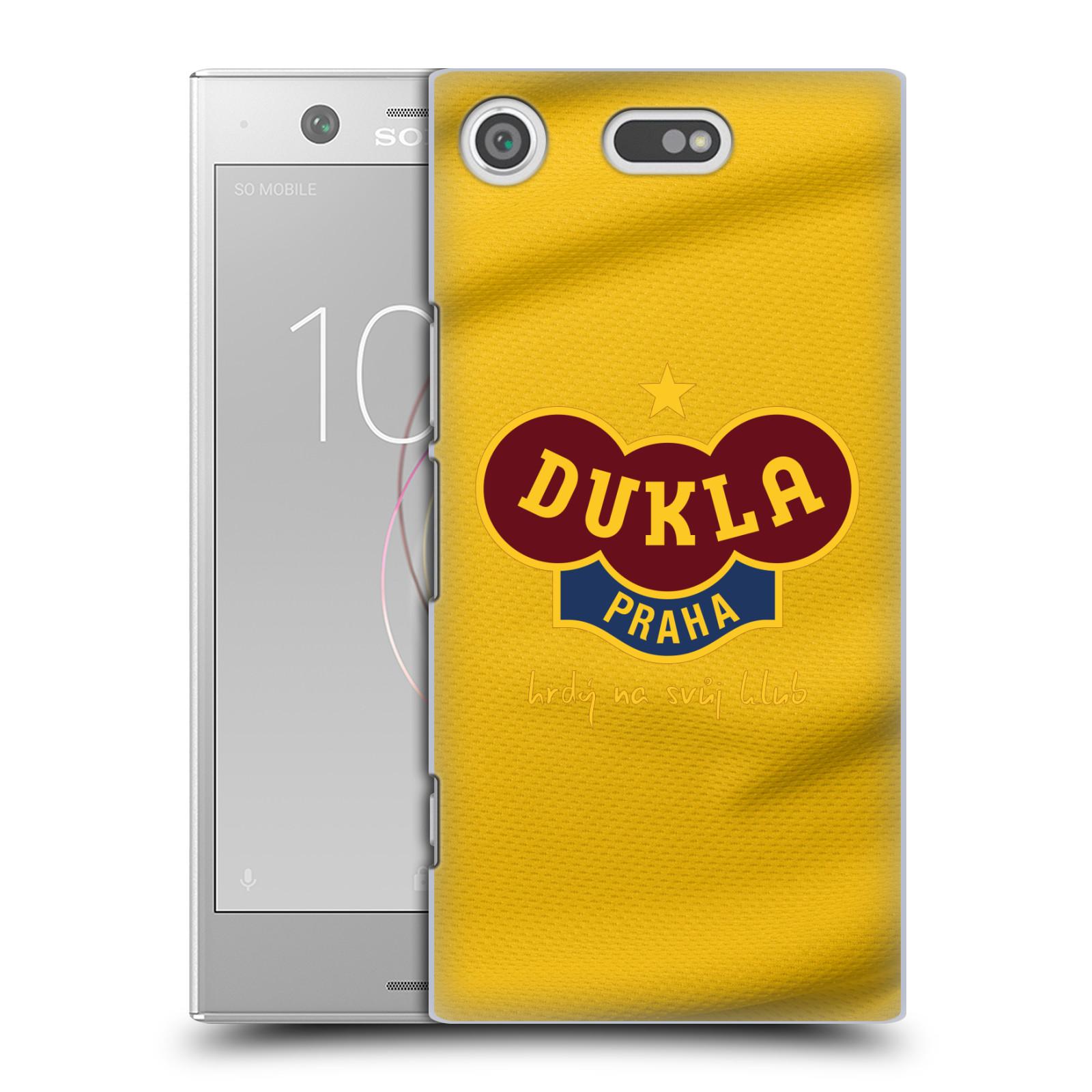 Plastové pouzdro na mobil Sony Xperia XZ1 Compact - FK Dukla Praha - Žlutý dres (Plastové pouzdro na mobil Sony Xperia XZ1 Compact - FK Dukla Praha - Žlutý dres)