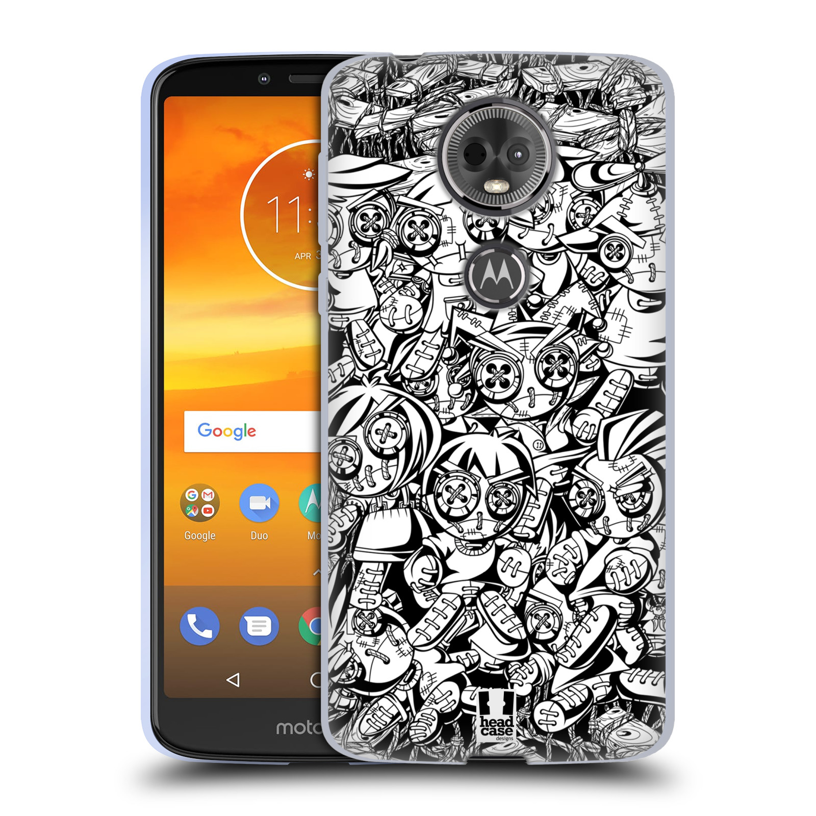 Silikonové pouzdro na mobil Motorola Moto E5 Plus - Head Case - VOODOO PUNK