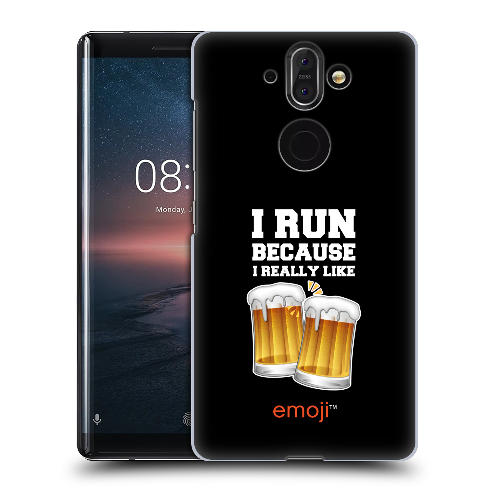 Plastové pouzdro na mobil Nokia 8 Sirocco - Head Case - EMOJI - Běhám na pivko