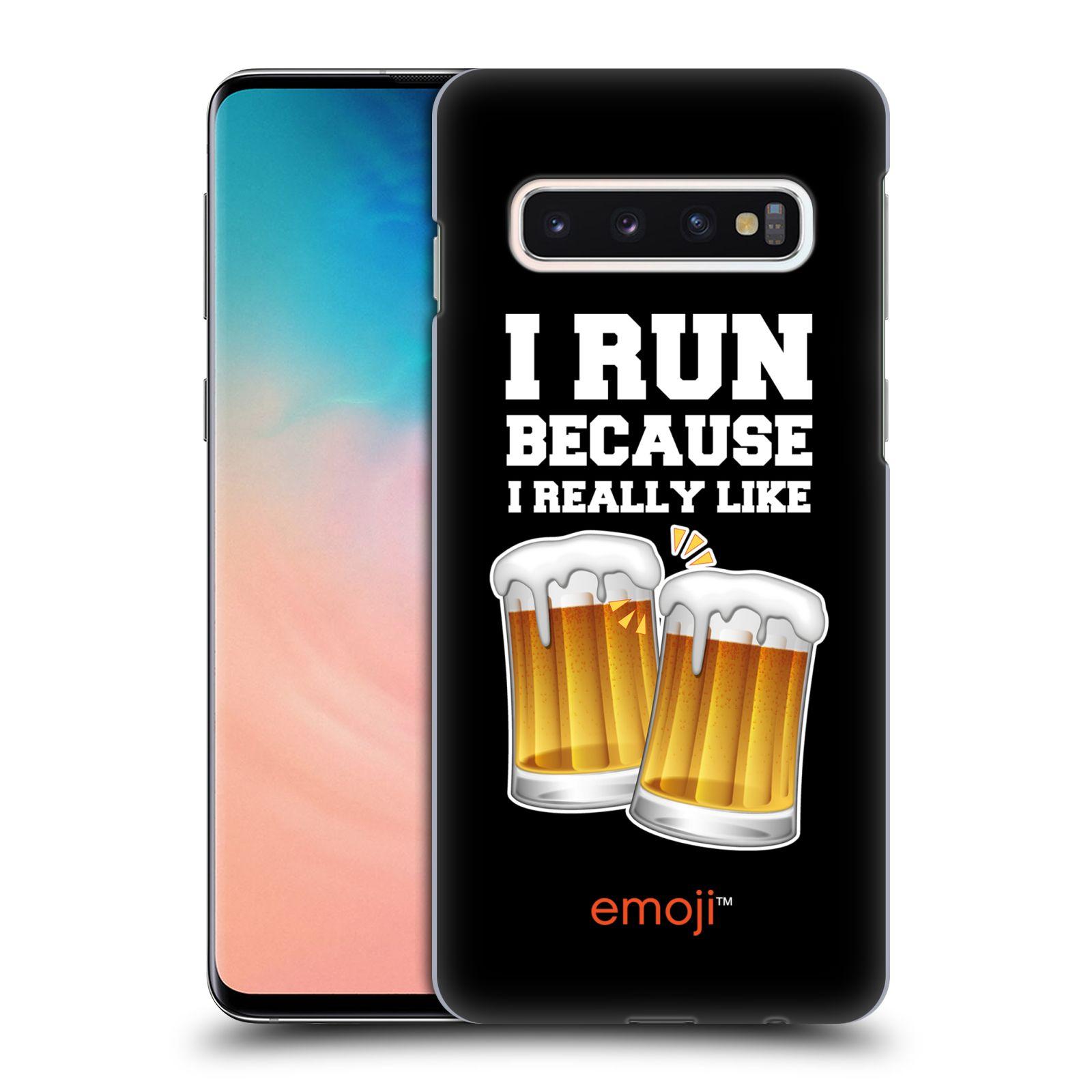 Plastové pouzdro na mobil Samsung Galaxy S10 - Head Case - EMOJI - Běhám na pivko
