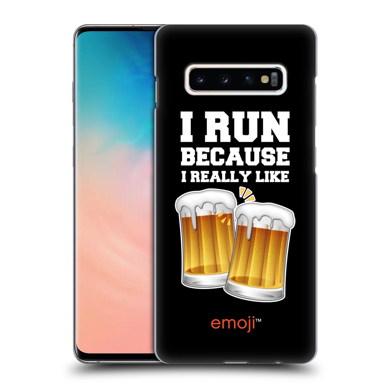 Plastové pouzdro na mobil Samsung Galaxy S10 Plus - Head Case - EMOJI - Běhám na pivko
