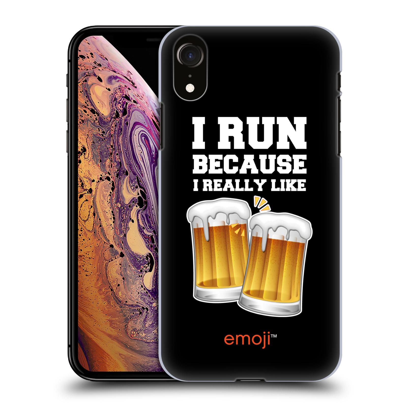 Plastové pouzdro na mobil Apple iPhone XR - Head Case - EMOJI - Běhám na pivko