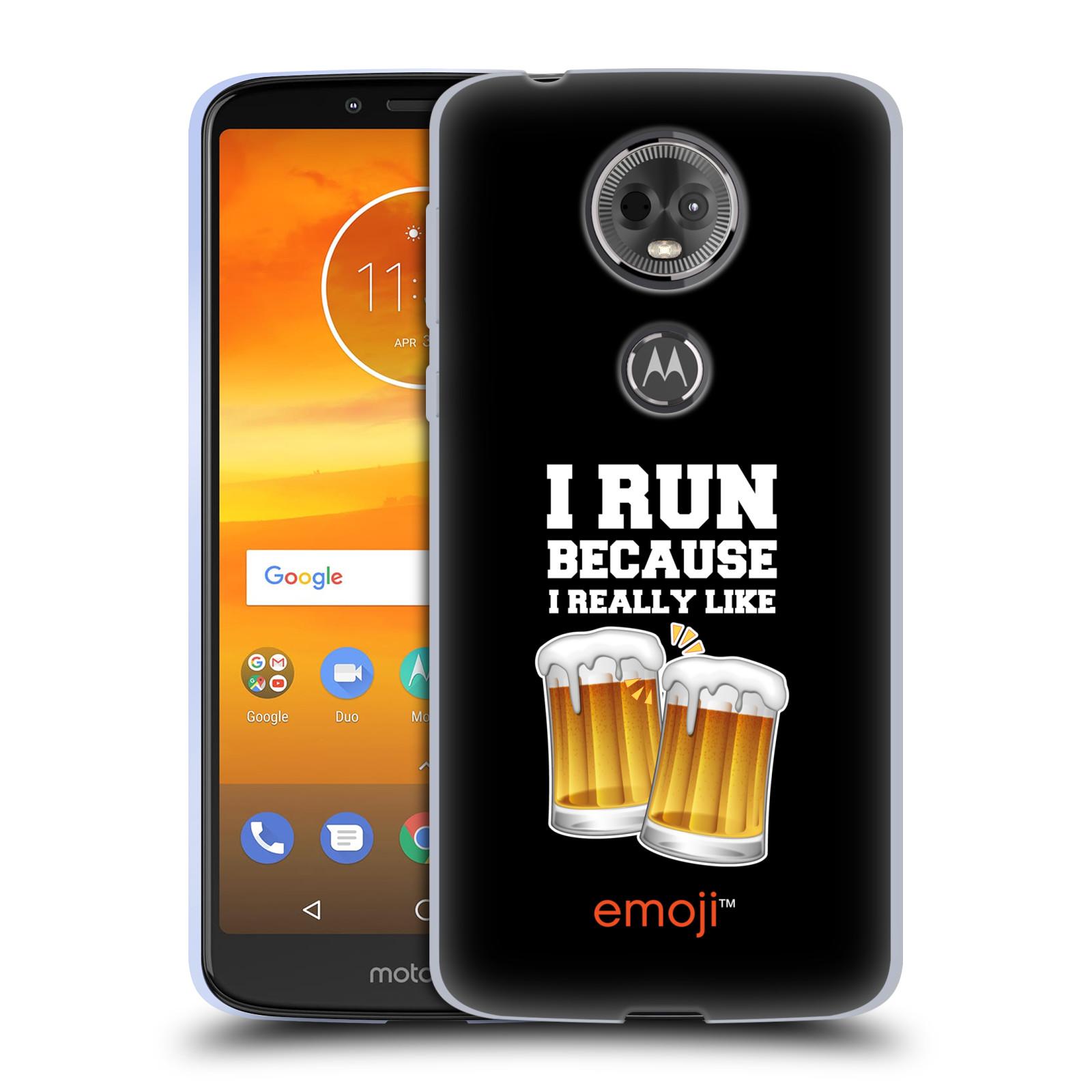 Silikonové pouzdro na mobil Motorola Moto E5 Plus - Head Case - EMOJI - Běhám na pivko