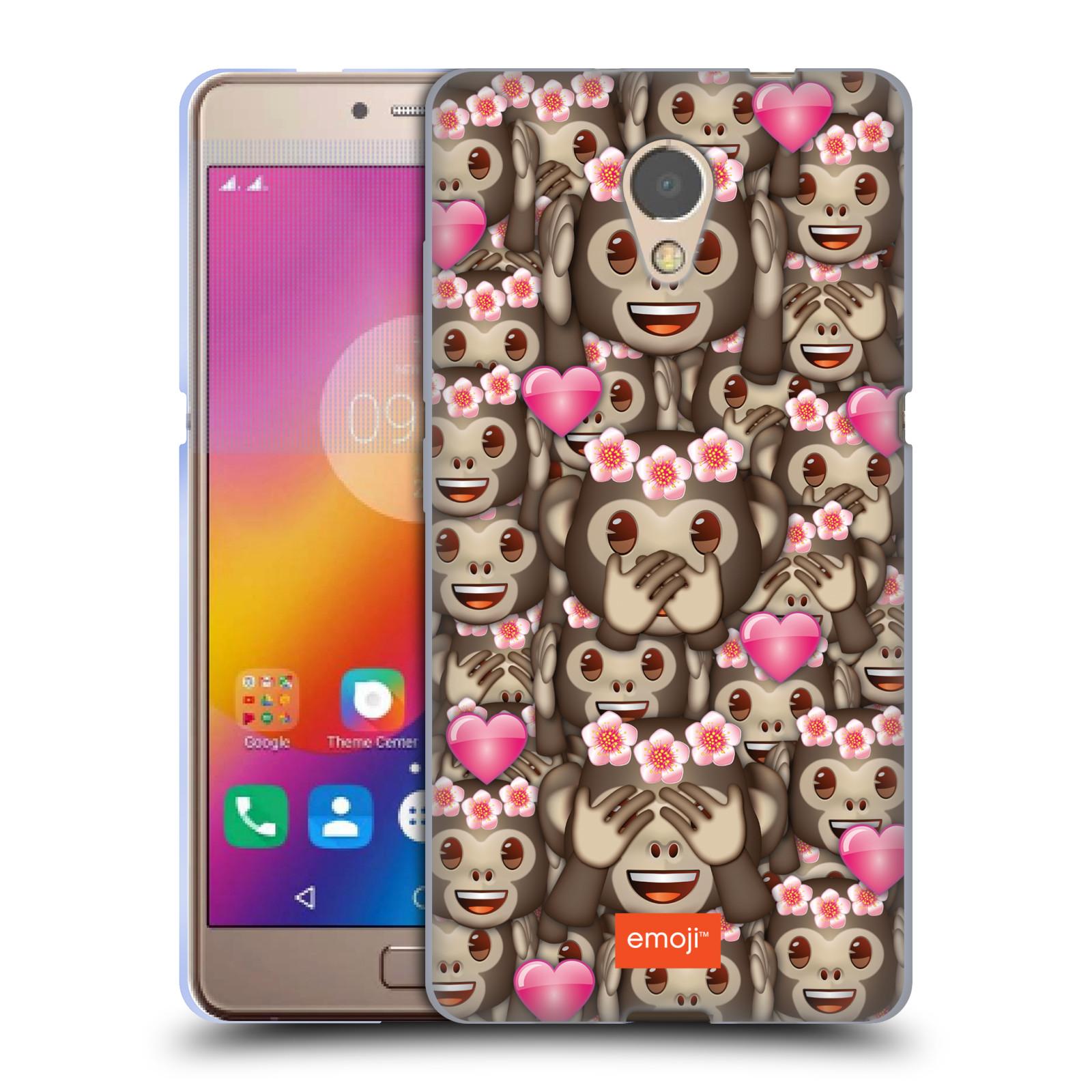 Silikonové pouzdro na mobil Lenovo P2 - Head Case - EMOJI - Opičky, srdíčka a kytičky