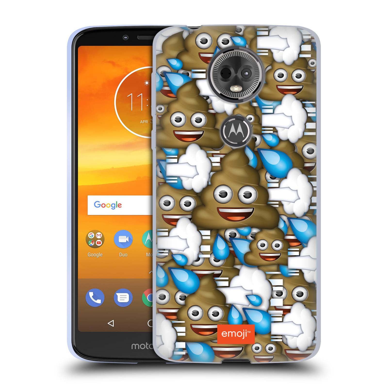 Silikonové pouzdro na mobil Motorola Moto E5 Plus - Head Case - EMOJI - Hovínka a prdíky