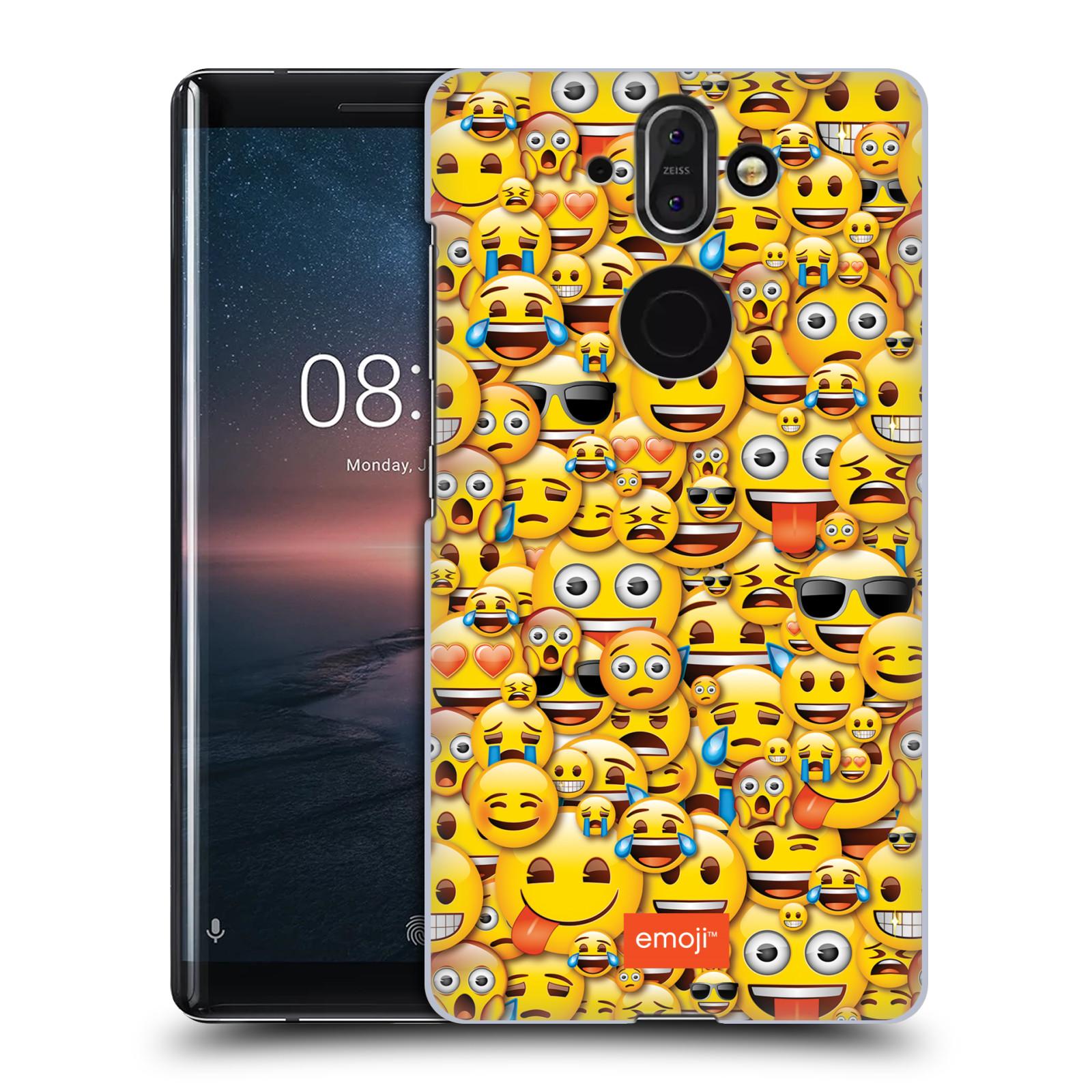 Plastové pouzdro na mobil Nokia 8 Sirocco - Head Case - EMOJI - Mnoho malých smajlíků