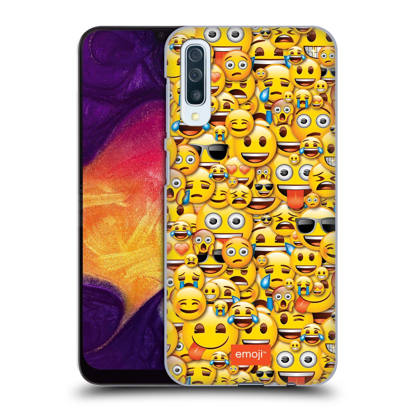 Plastové pouzdro na mobil Samsung Galaxy A50 / A30s - Head Case - EMOJI - Mnoho malých smajlíků