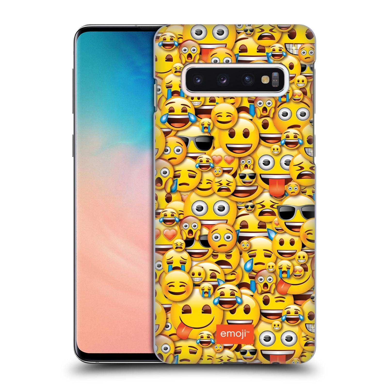 Plastové pouzdro na mobil Samsung Galaxy S10 - Head Case - EMOJI - Mnoho malých smajlíků