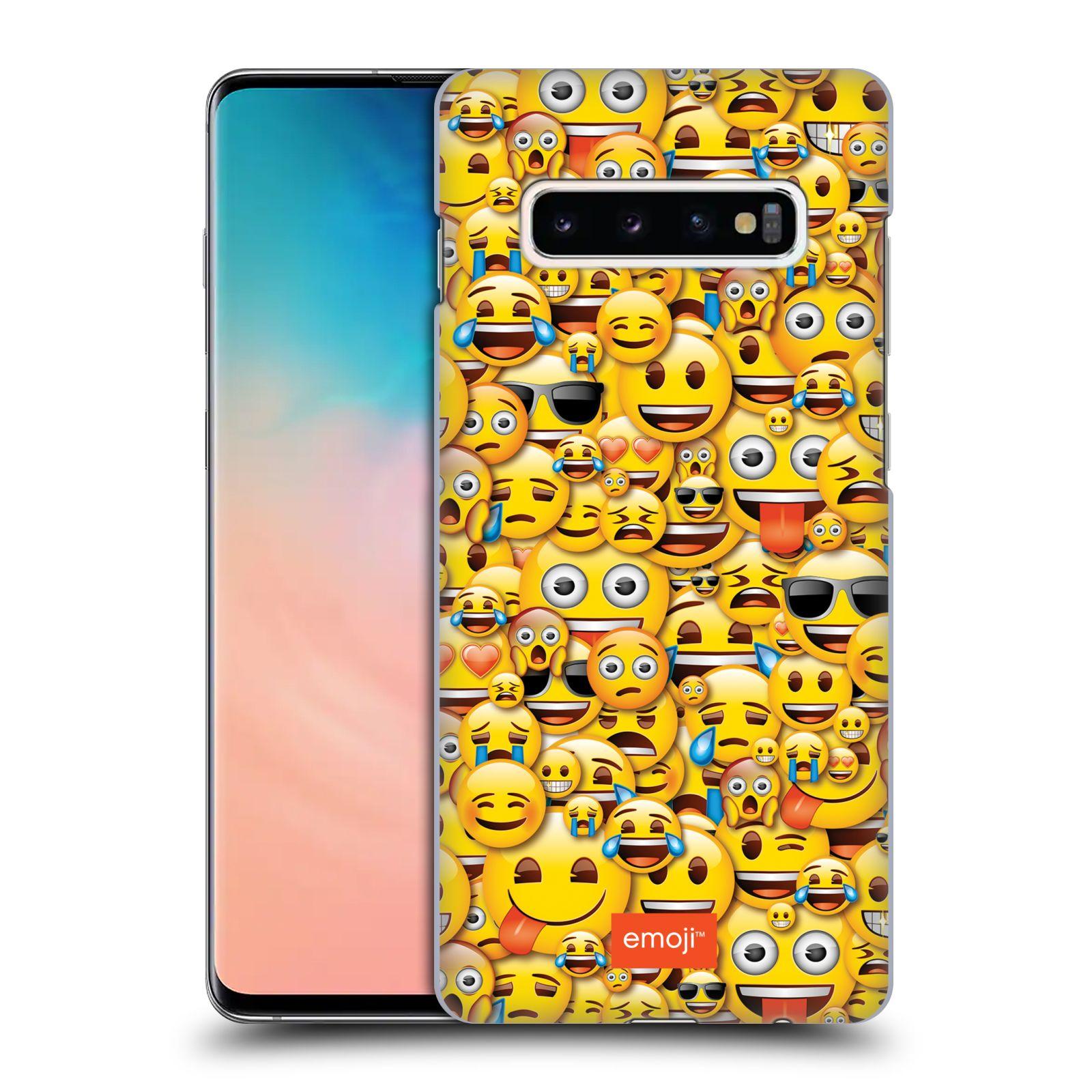 Plastové pouzdro na mobil Samsung Galaxy S10 Plus - Head Case - EMOJI - Mnoho malých smajlíků